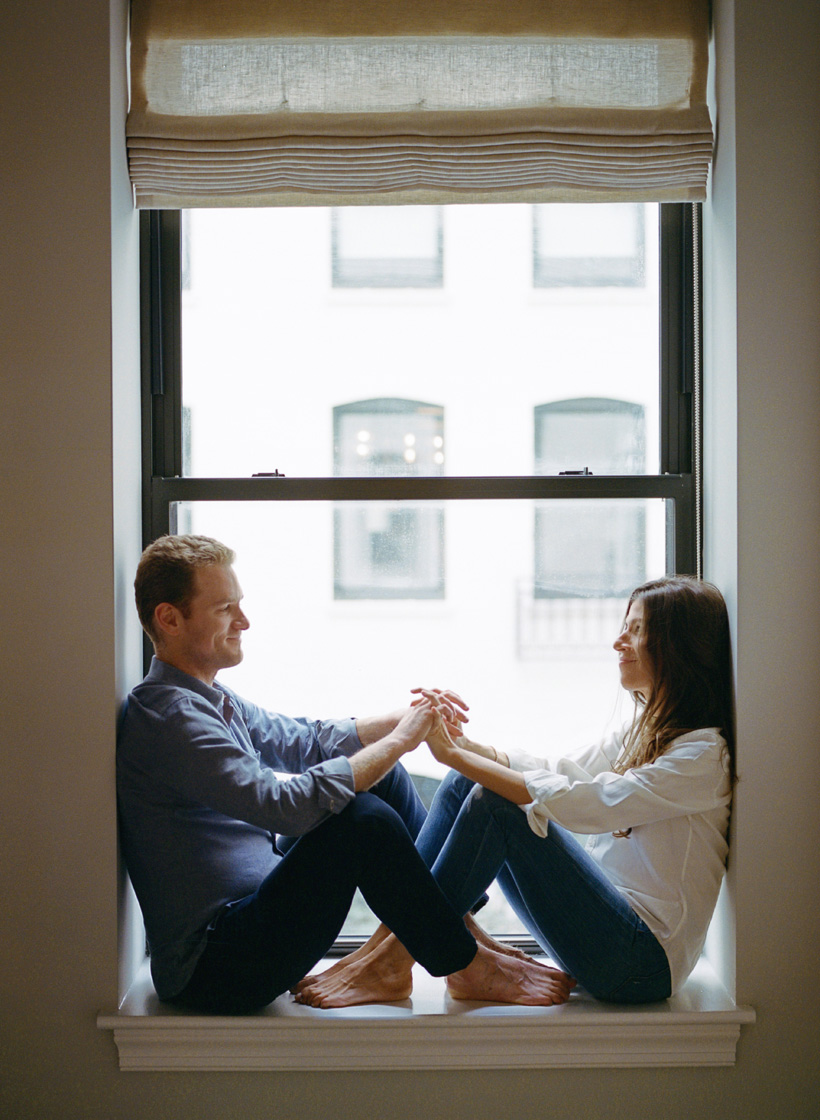 New York City Apartment Engagement Photos