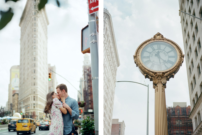 Engagement Photos with Flatiron Building