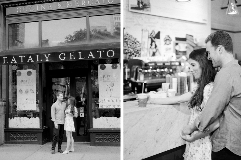 Eataly Engagement Photos in NYC