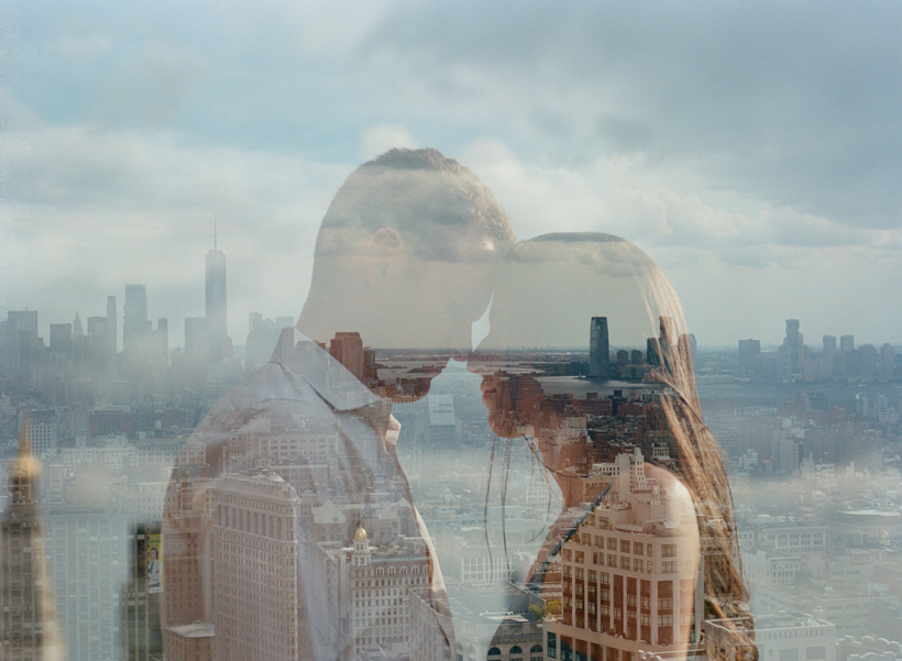 NYC Skyline Double Exposure Engagement Photos