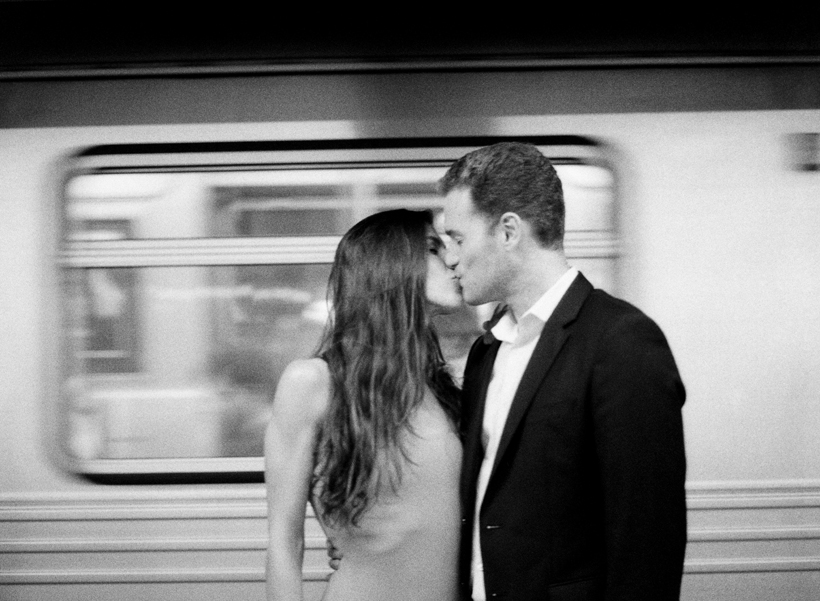 NYC Subway Engagement Photos