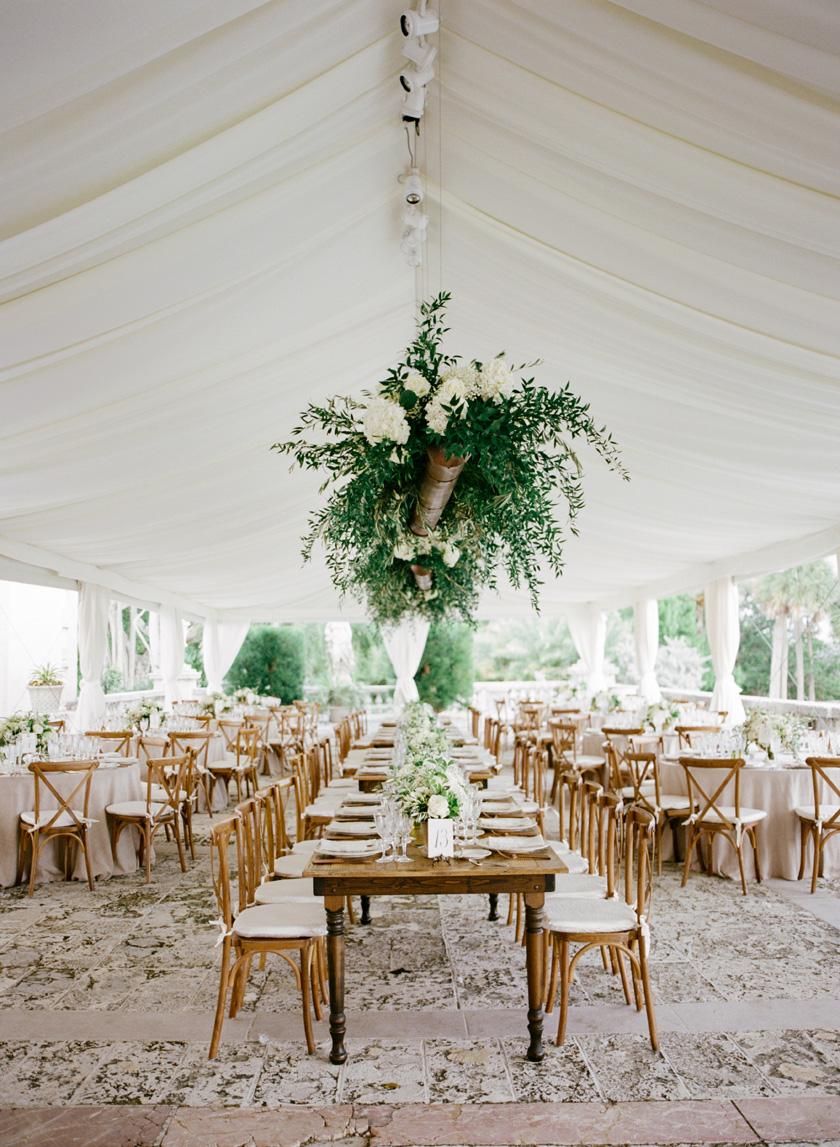 Italian inspired wedding reception at Vizcaya in Miami