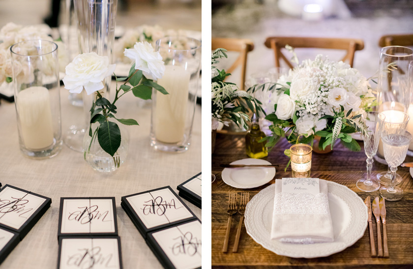 Wedding design with lace and copper details at Vizcaya