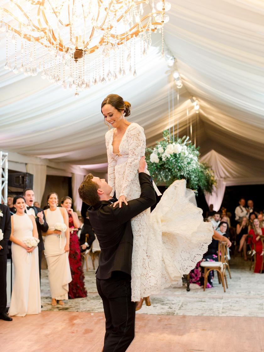 First dance at Vizcaya Museum wedding