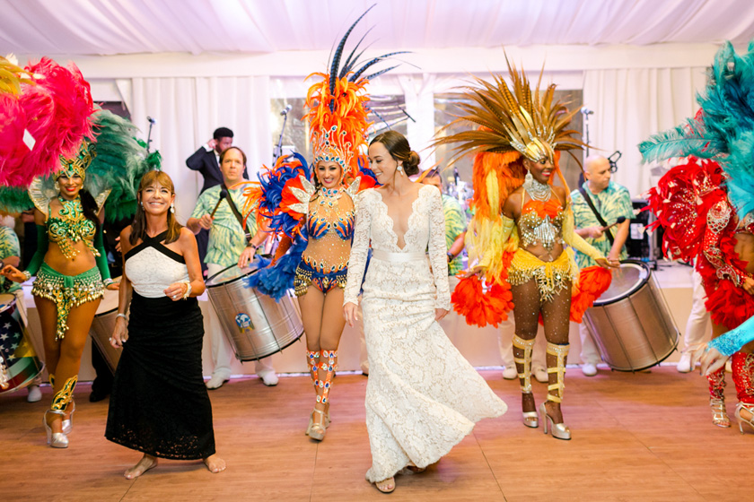 Brazilian Samba Dancers at Vizcaya Wedding