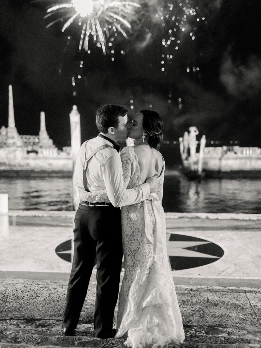 Fireworks Show at Vizcaya Wedding Reception