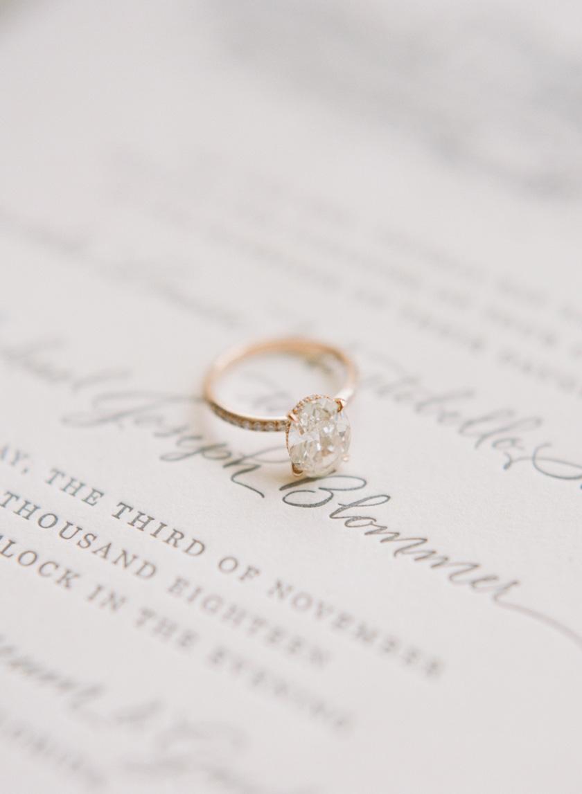 Beautiful engagement ring for Vizcaya wedding