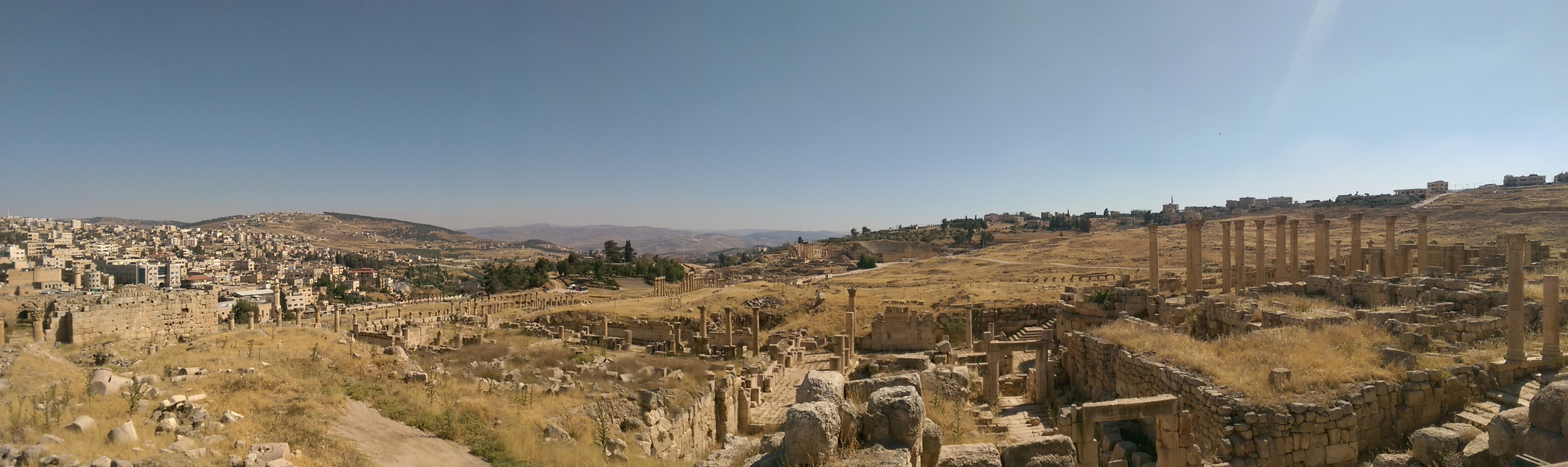 The archaeological wonders of Jerash.