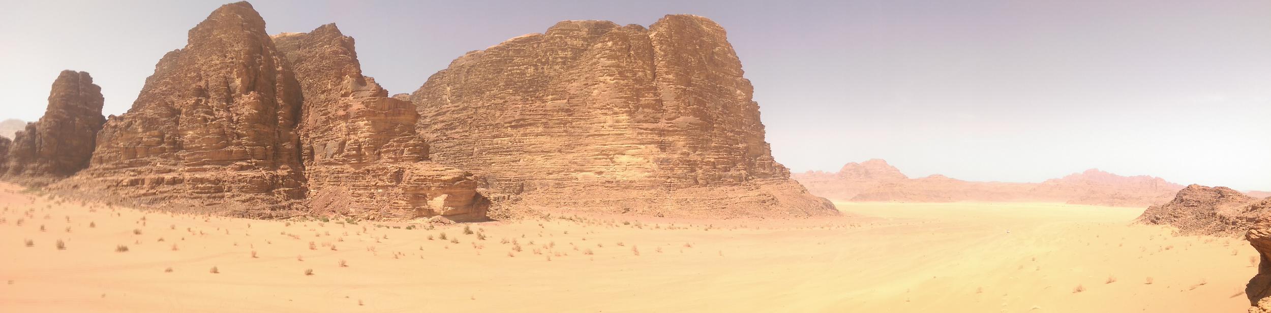 The scenery at Wadi Rum.