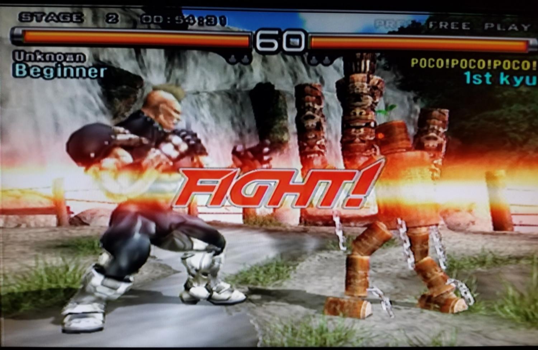 Jack-5 versus Mokujin in Tekken 5.