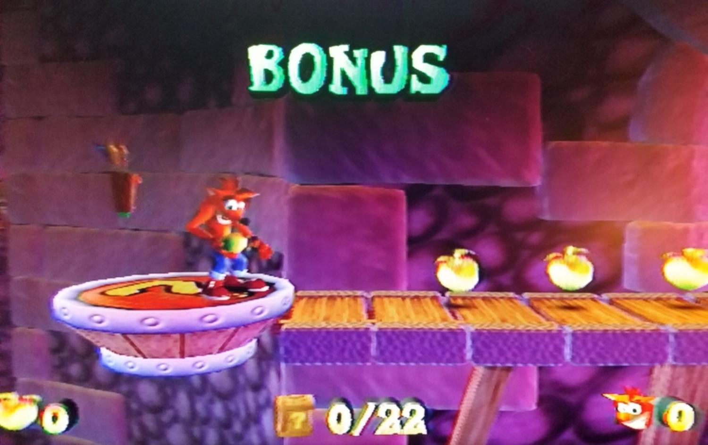 Crash bandicoot prepares to take on a bonus area in The Wrath of Cortex.