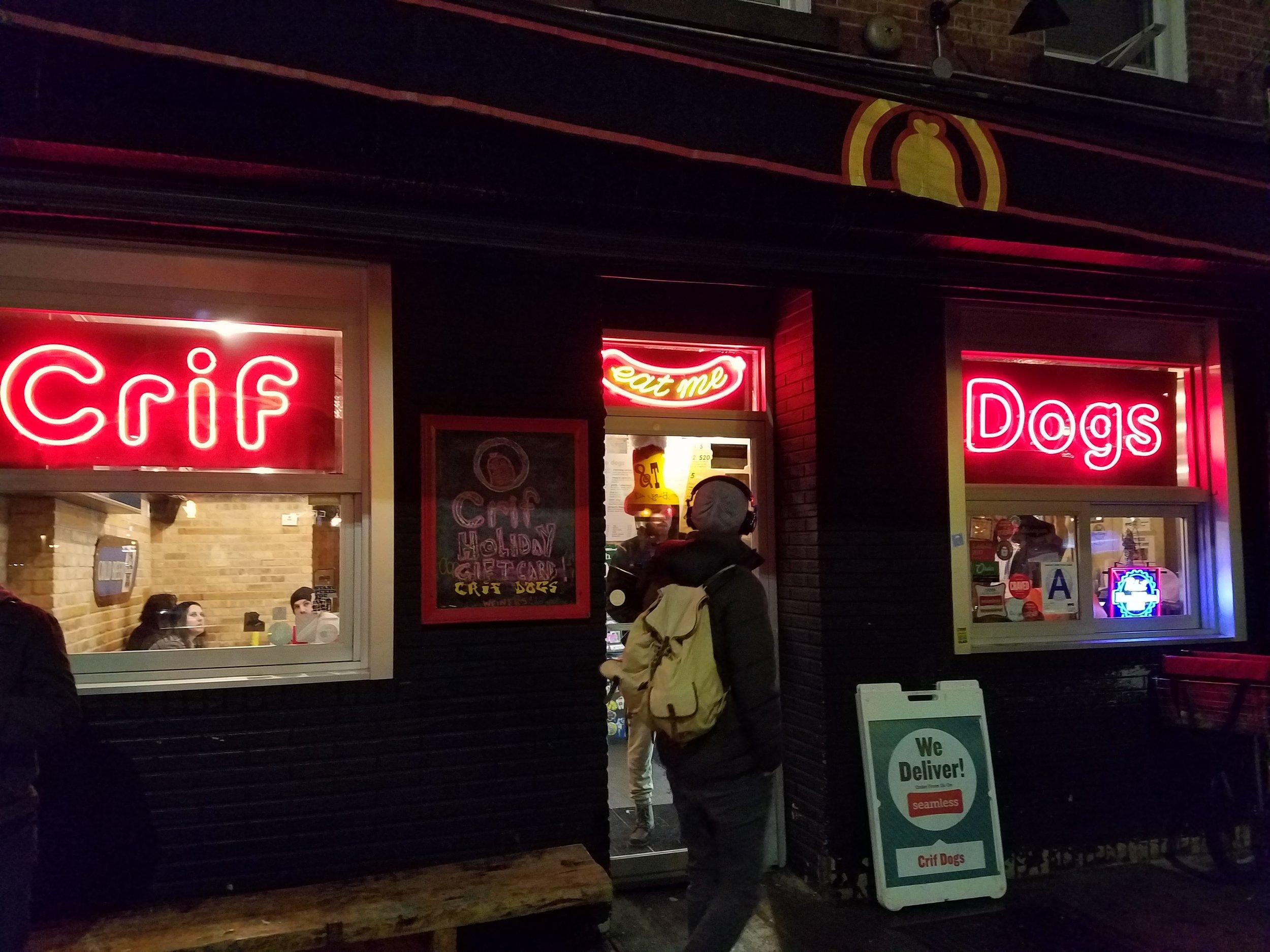 Crif Dogs on Driggs Avenue, Brooklyn, NY