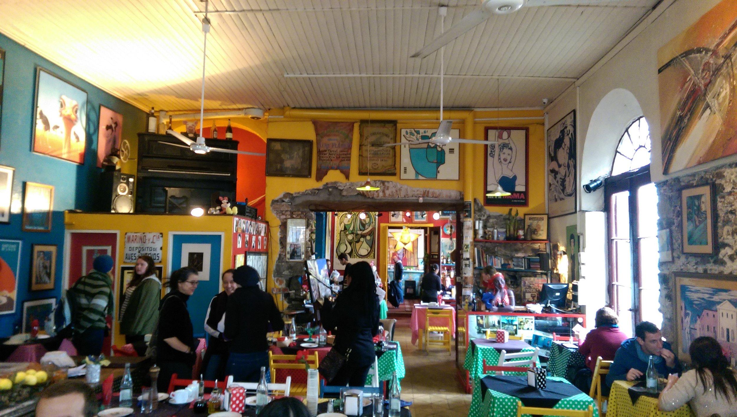 The interior of  El Drugstore .