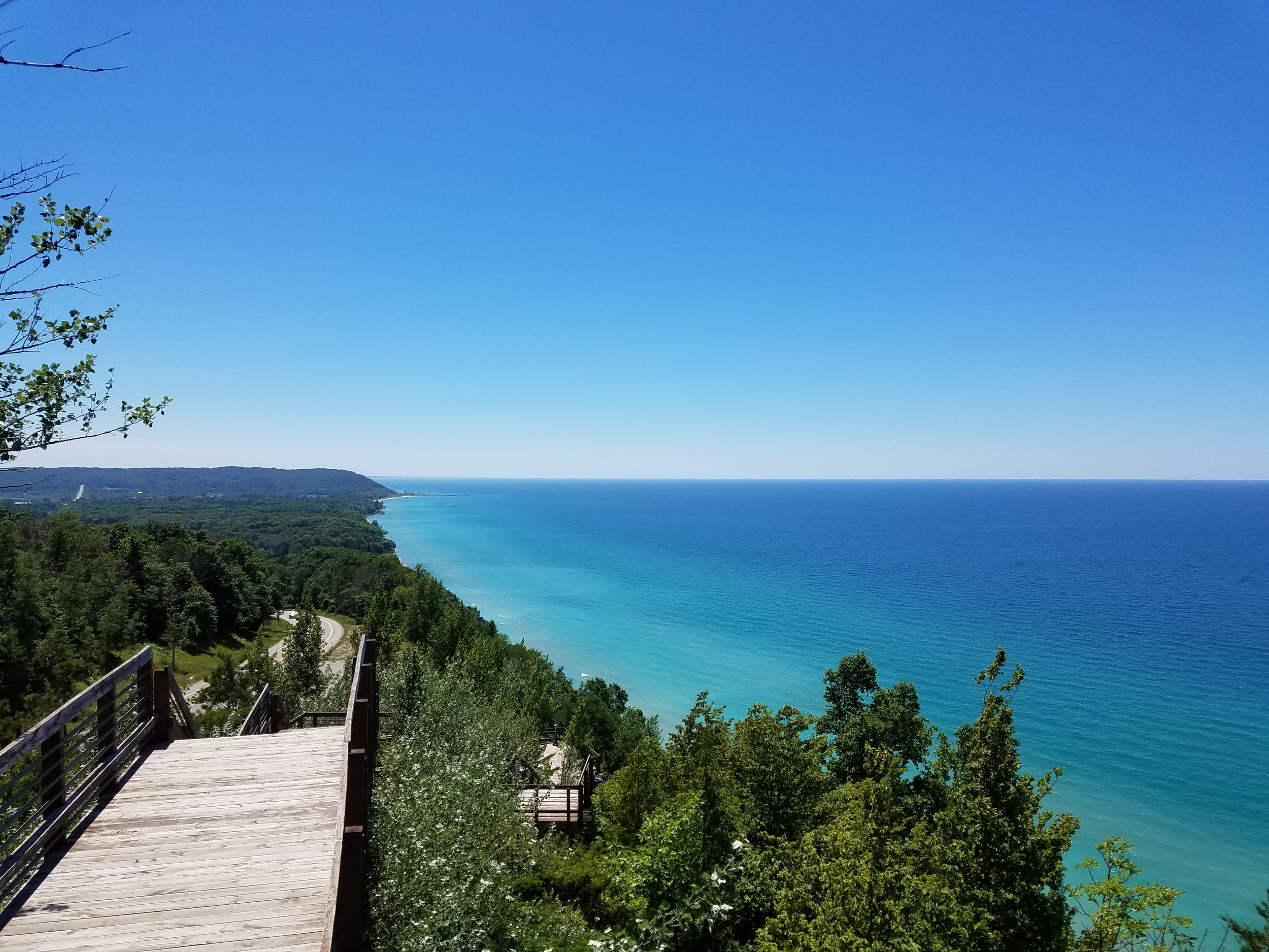 Lake Michigan views from the Arcadia Lookout on M-22