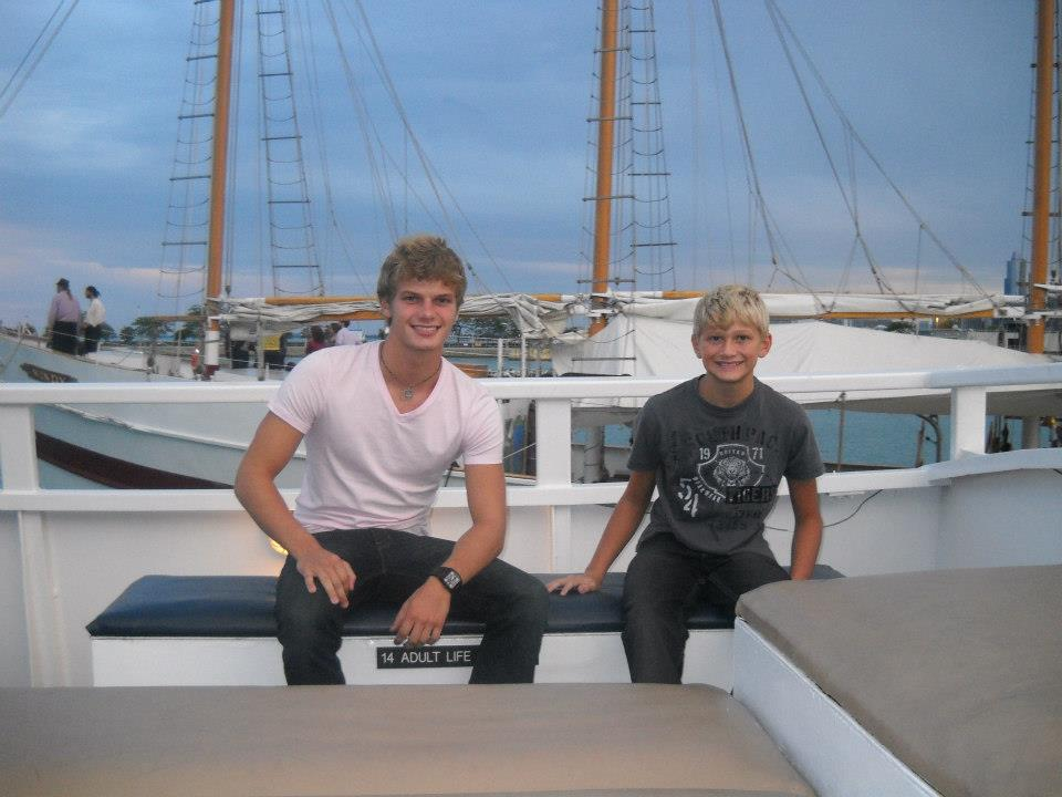 Me and the little bro *hashtag*  on a boat  in Chicago, August 2012