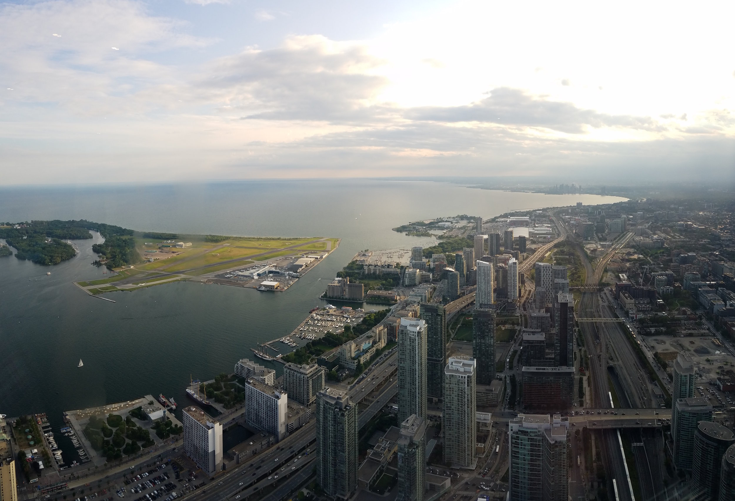 Looking westward from atop the CN Tower