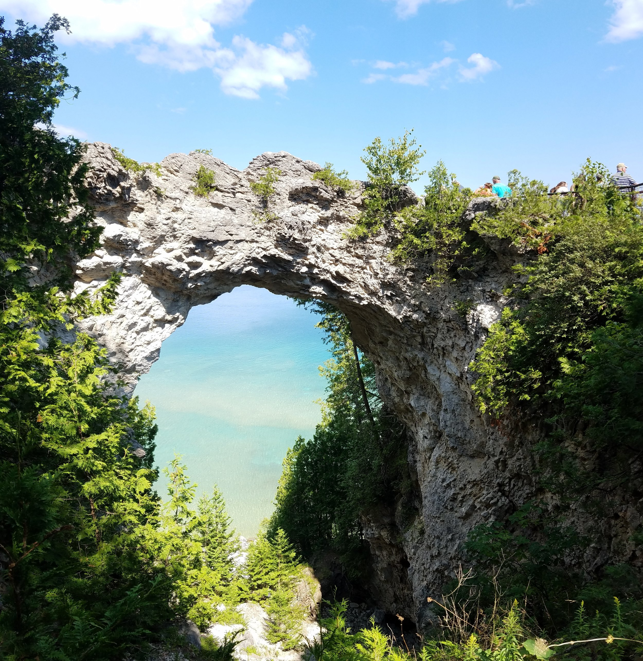 Arch Rock  itself — an über popular spot to stop while on your bike tour.