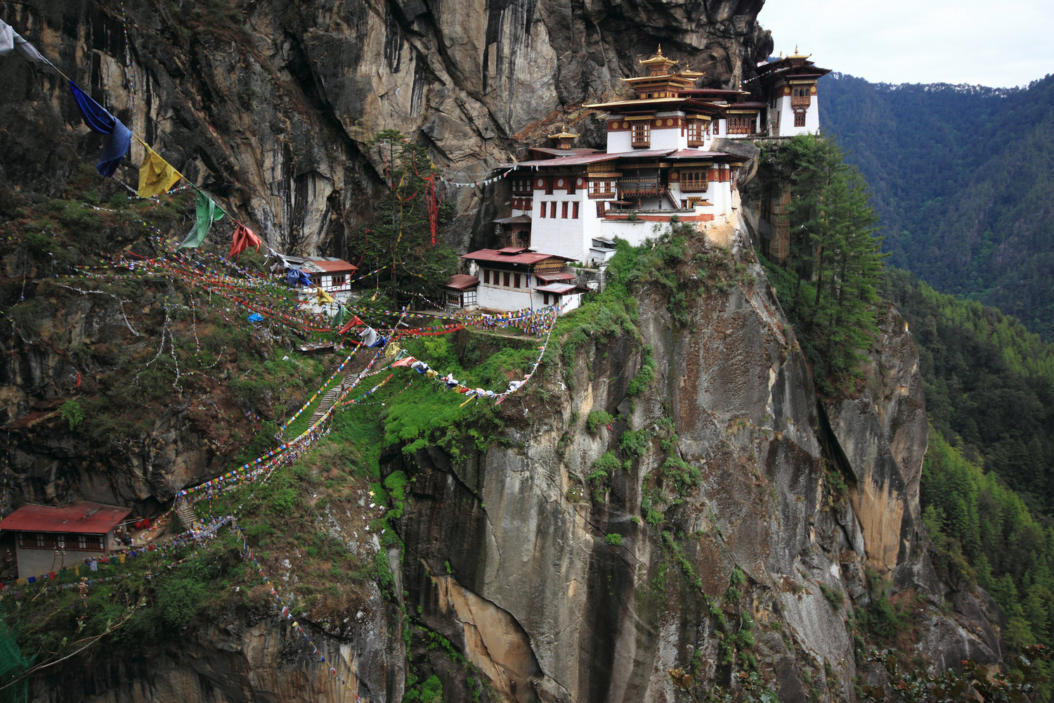 Paro Taktsang, or the Tiger's Nest, in the landlocked country of Bhutan (Image:  Flickr )