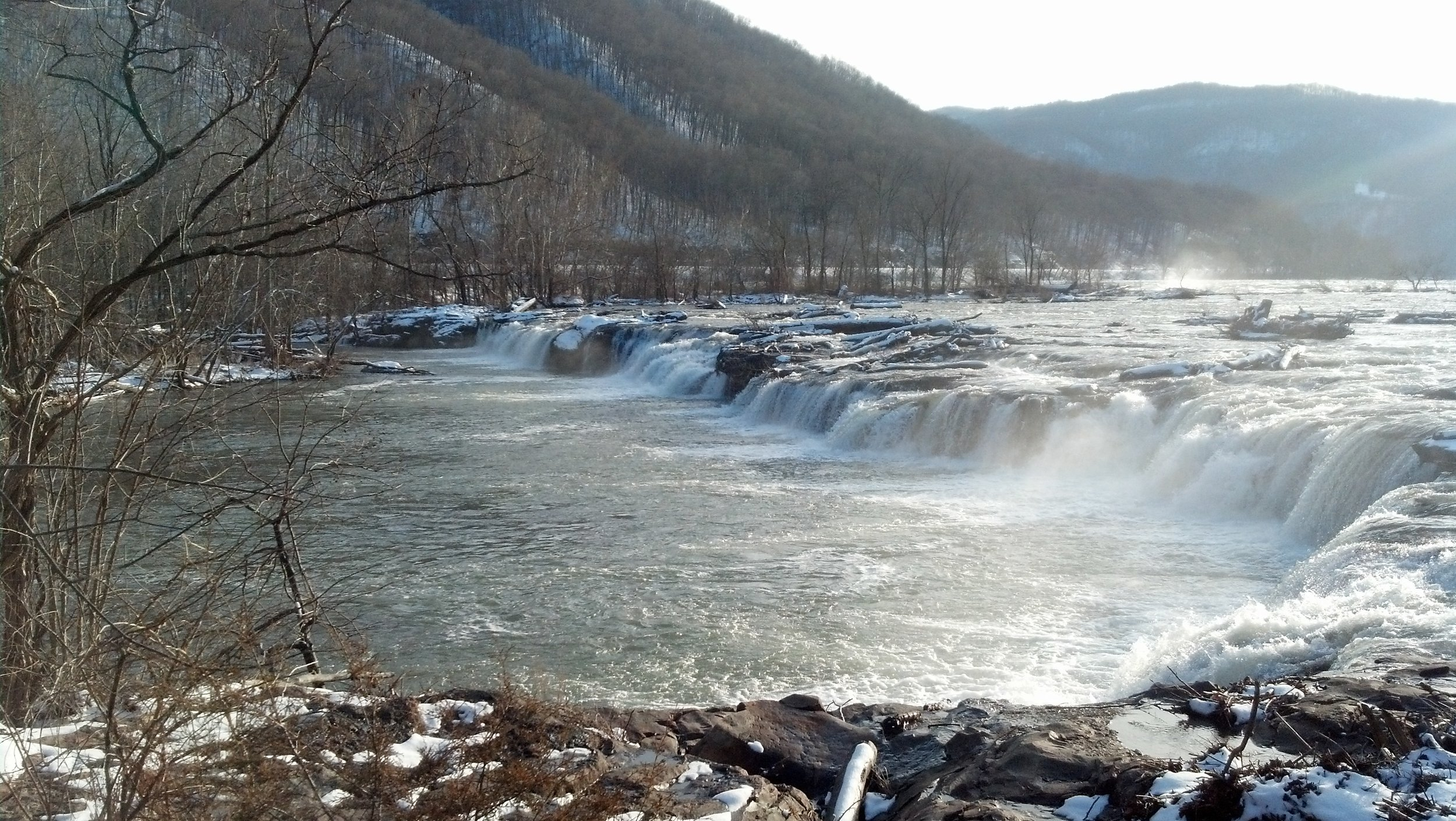 Sandstone Falls, up close and personal