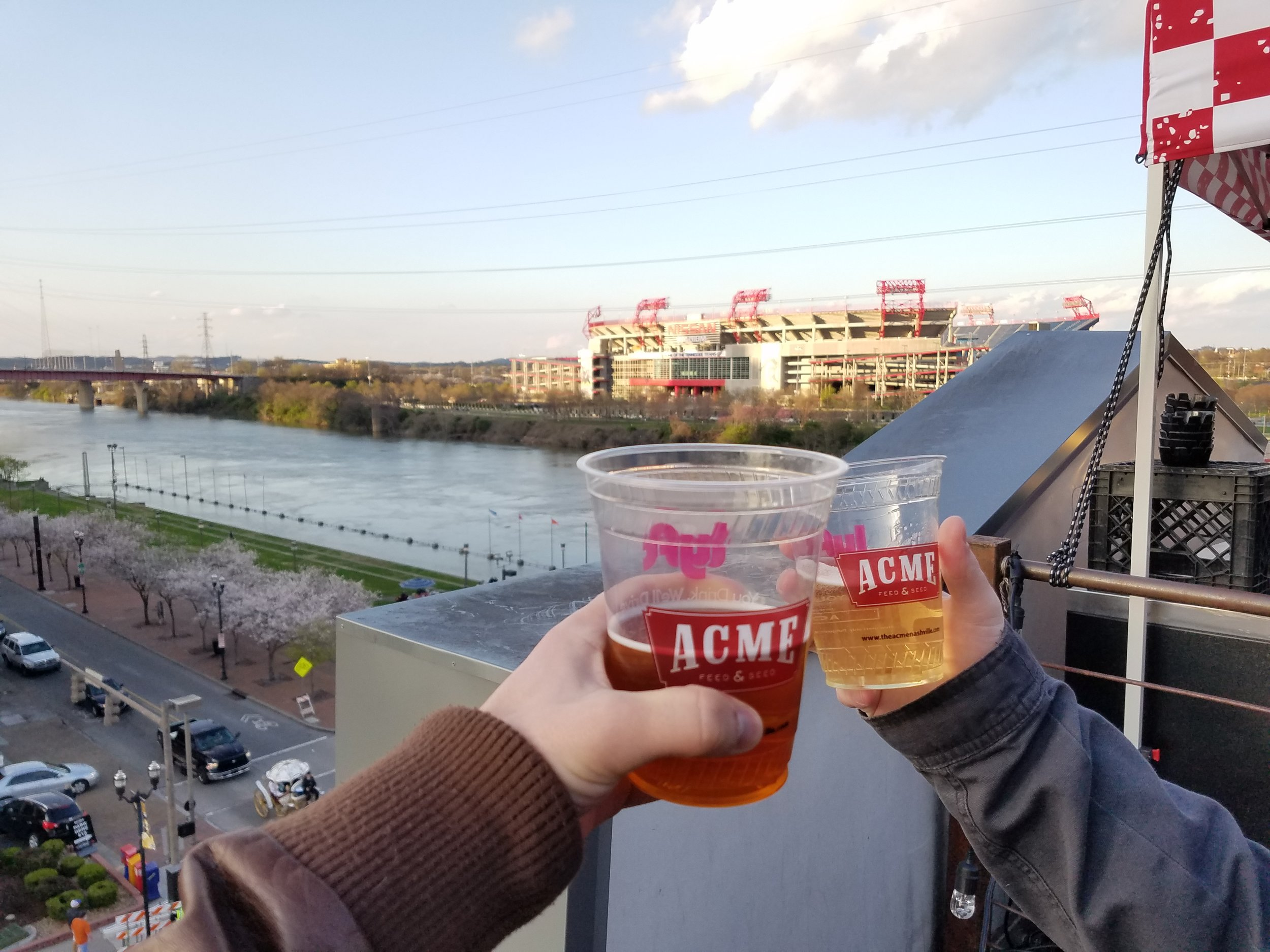 Brews and views are on tap at Acme's open-air rooftop bar