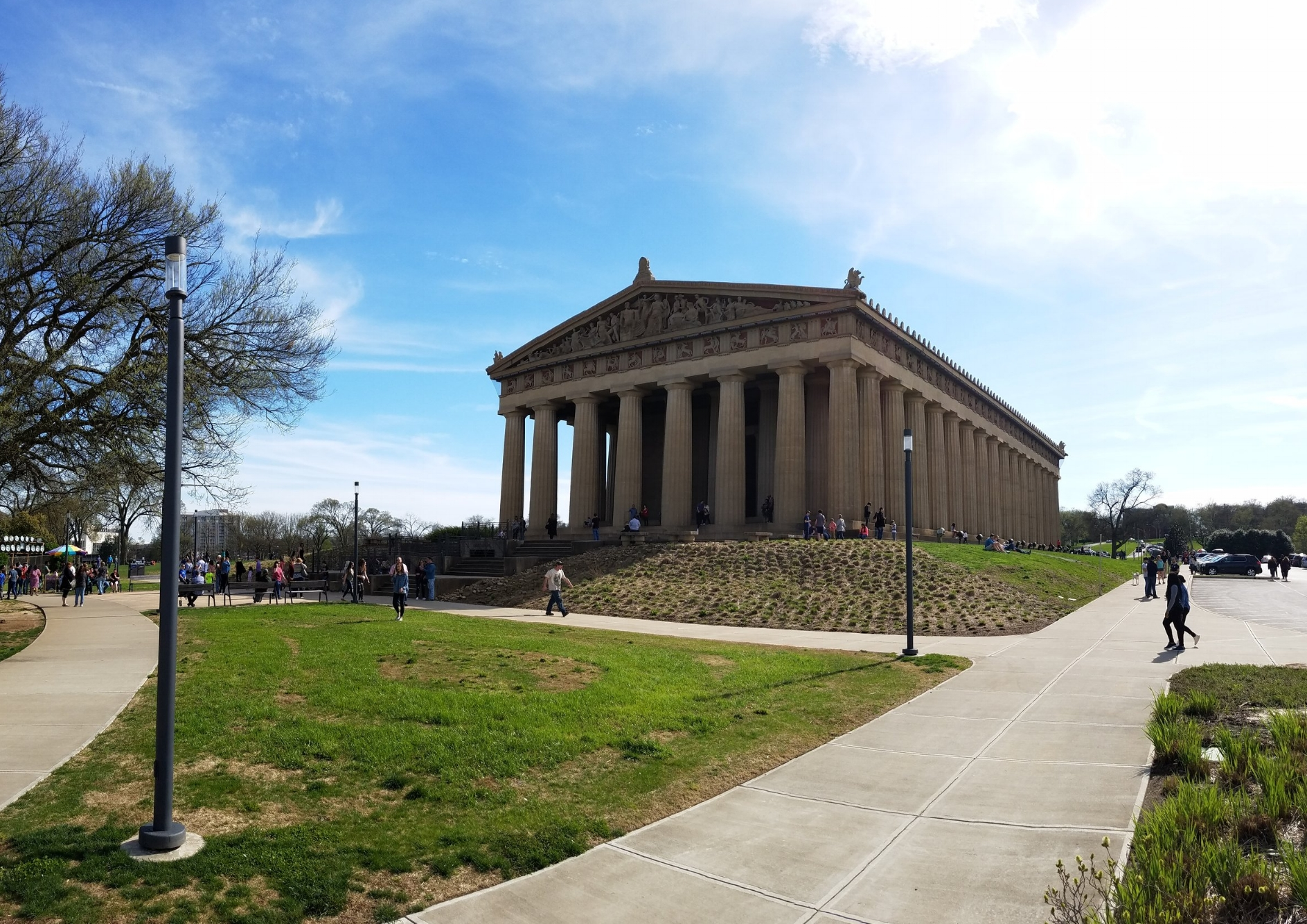 A full-scale replica of The Parthenon stands in Nashville's Centennial Park