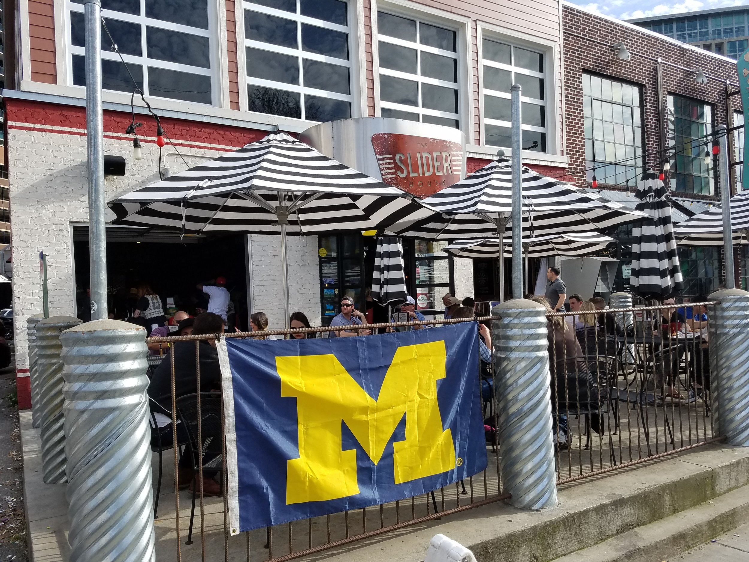 Wolverine Nation was well represented at The Slider House in Nashville during Saturday's Final Four