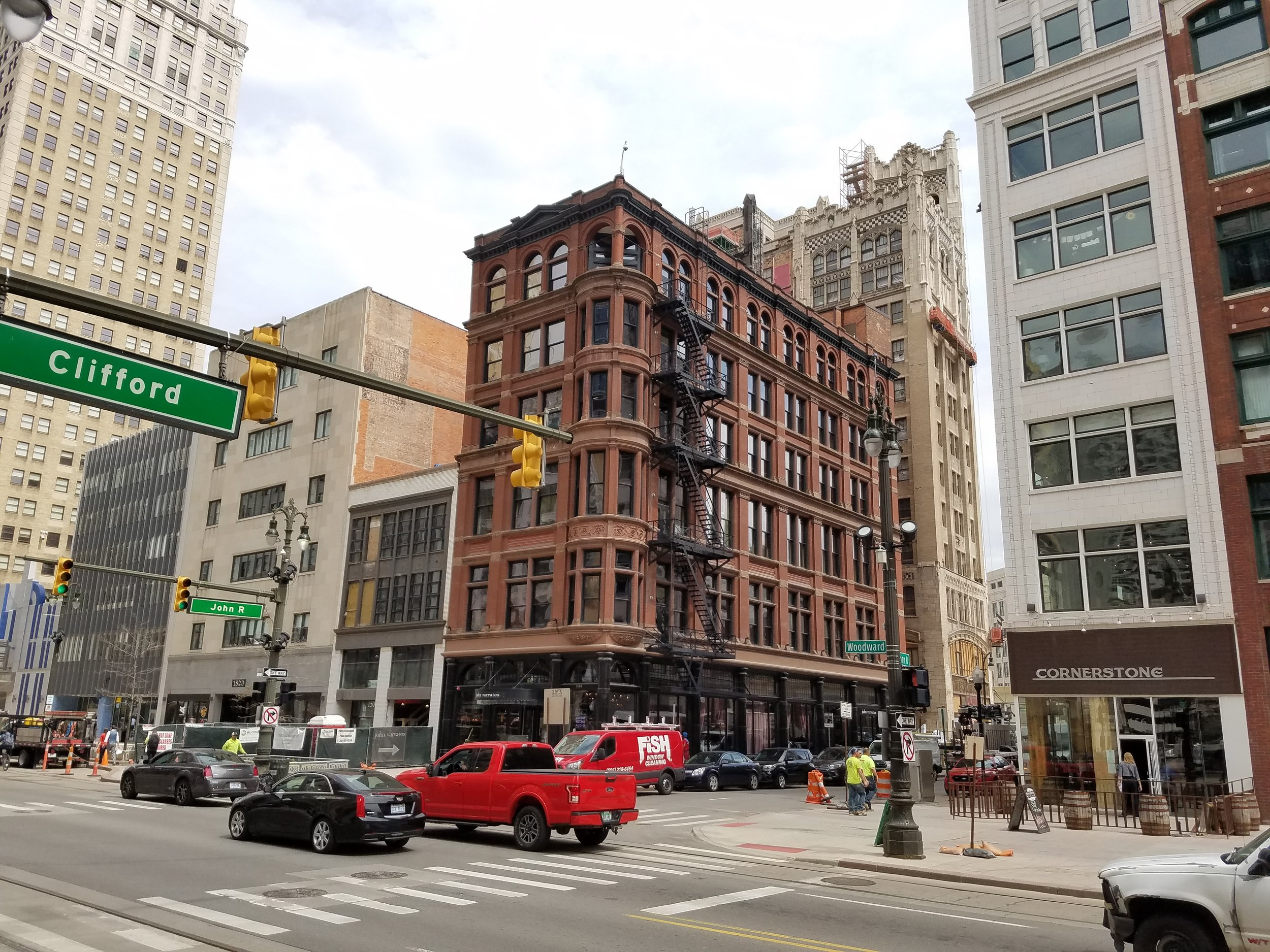 The Wright-Kay Building has stood at 1500 Woodward Avenue since being completed in 1891