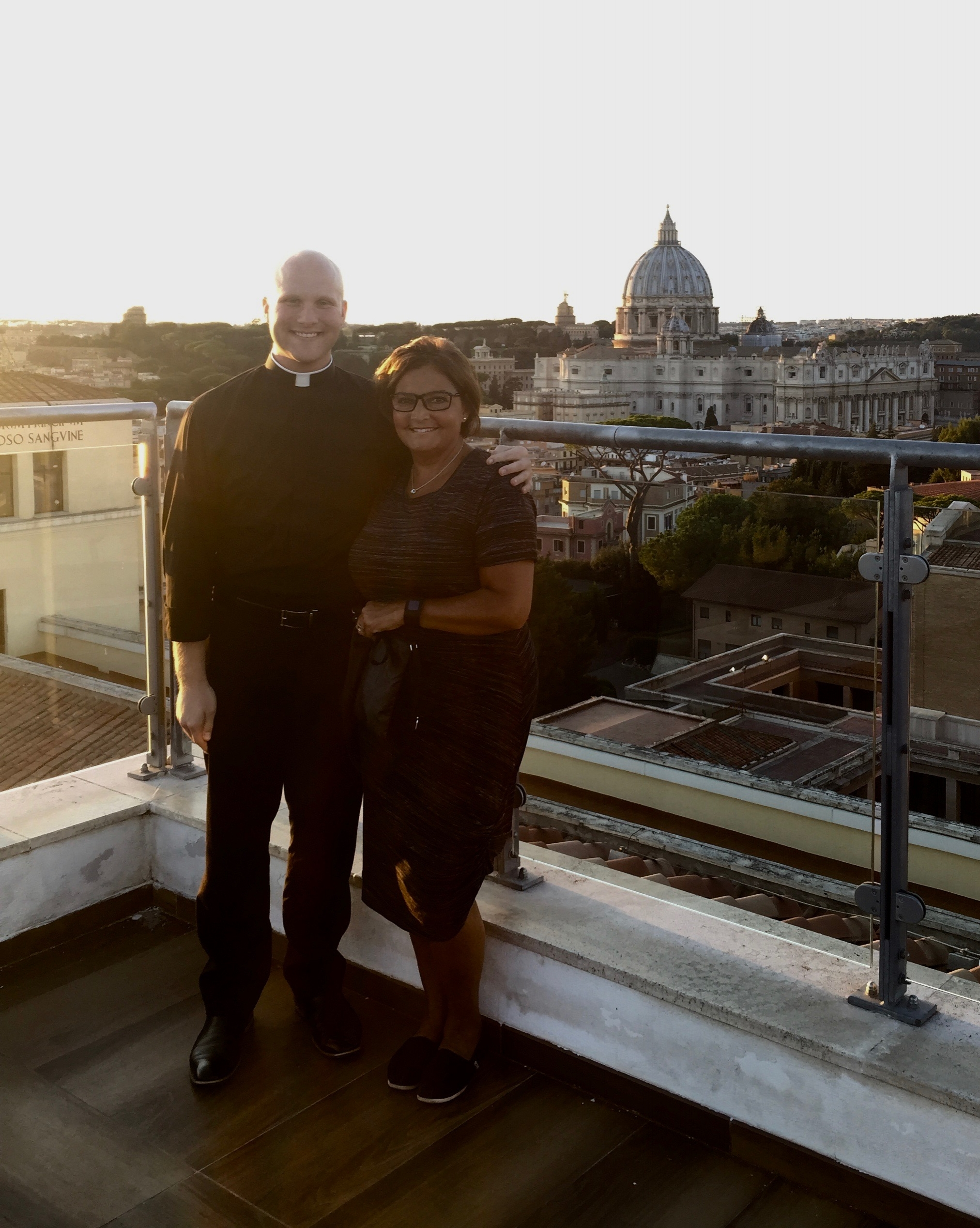 View from the rooftop of Pontifical North American College in Rome
