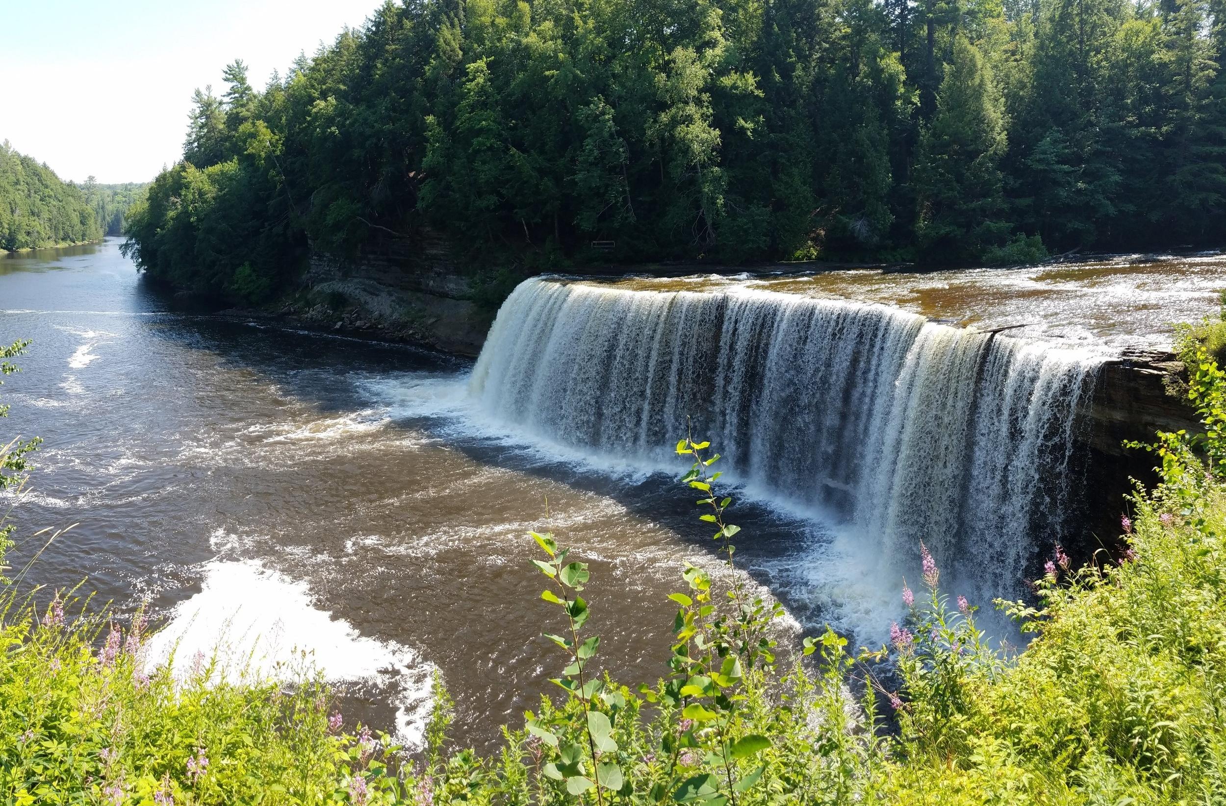 The Upper Falls at Tahquamenon Falls State Park
