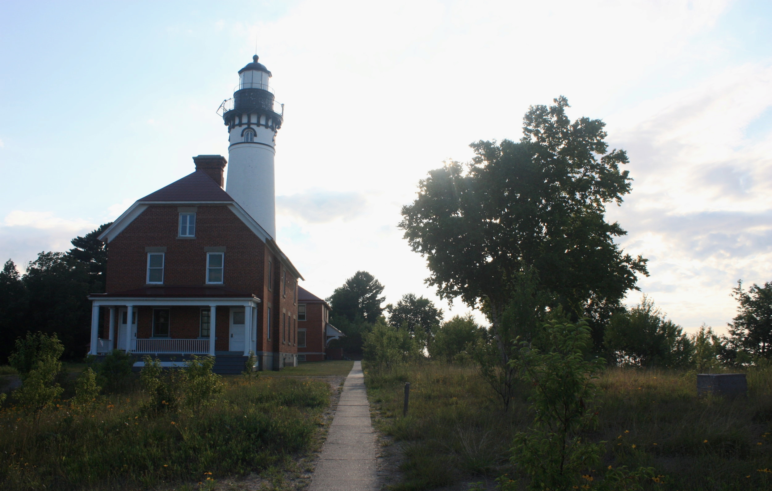 The lighthouse and surrounding grounds at Au Sable Point