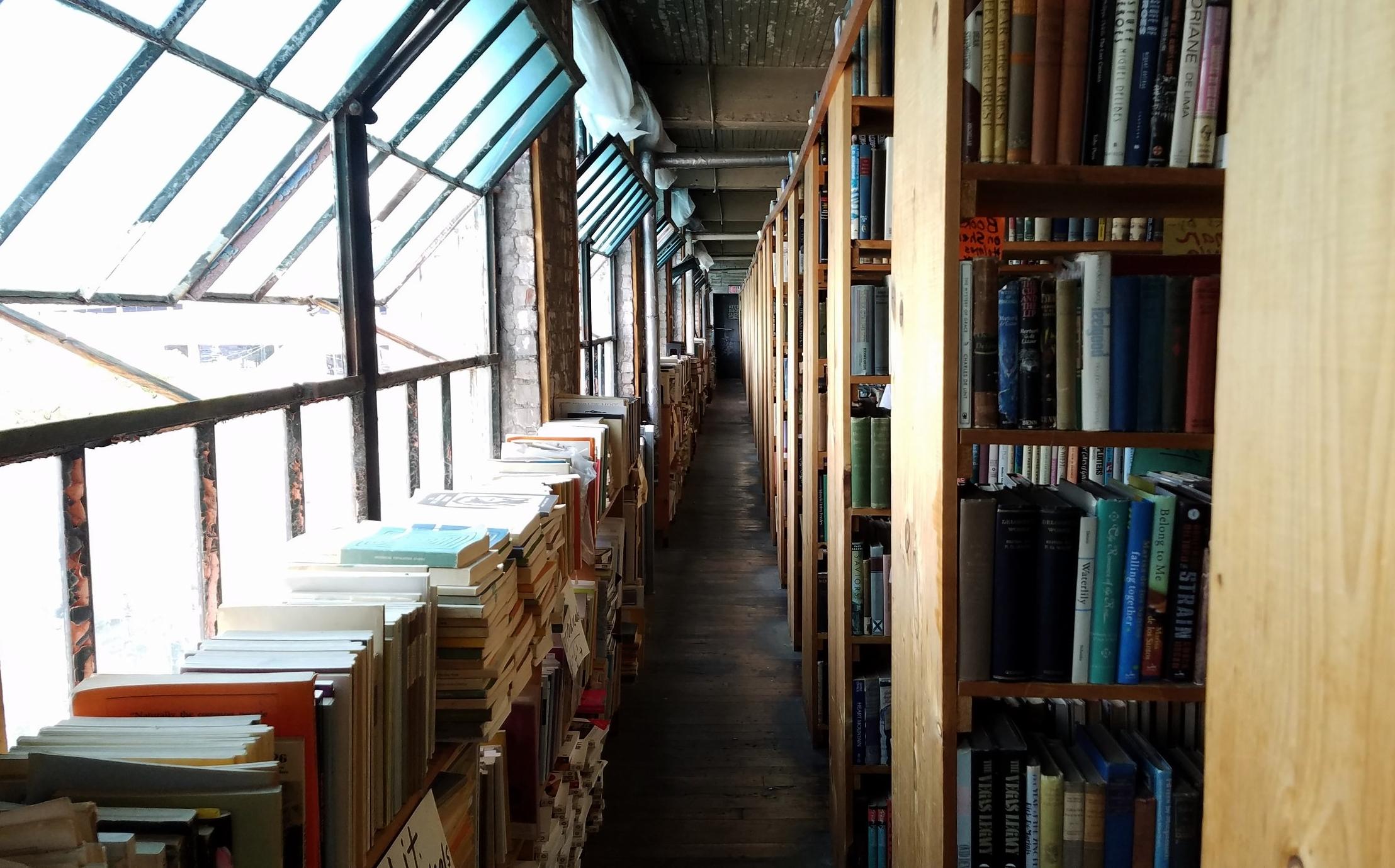A peek inside John K. King Used & Rare Books on W. Lafayette Blvd.