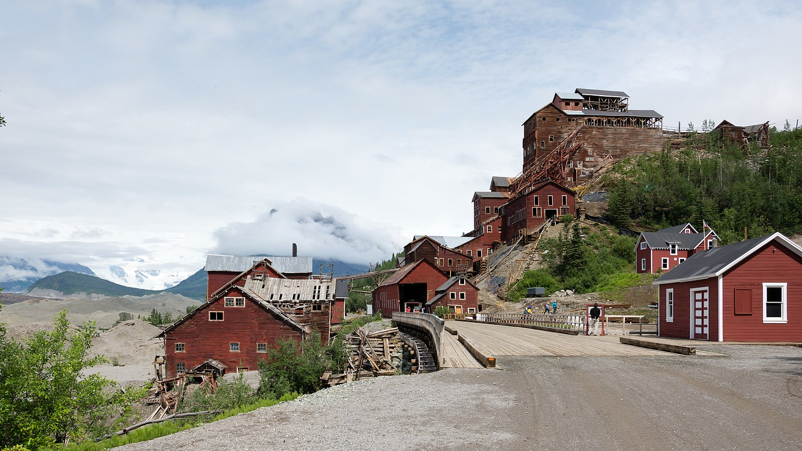 Kennecott, an abandoned mining camp in southeastern Alaska, is a National Historic Landmark District (Image:  Wikimedia Commons )