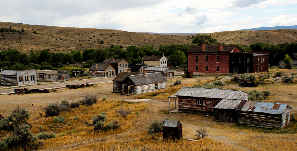 Many original structures still stand in Bannack, Montana, founded in 1862 (Image:  Flickr )