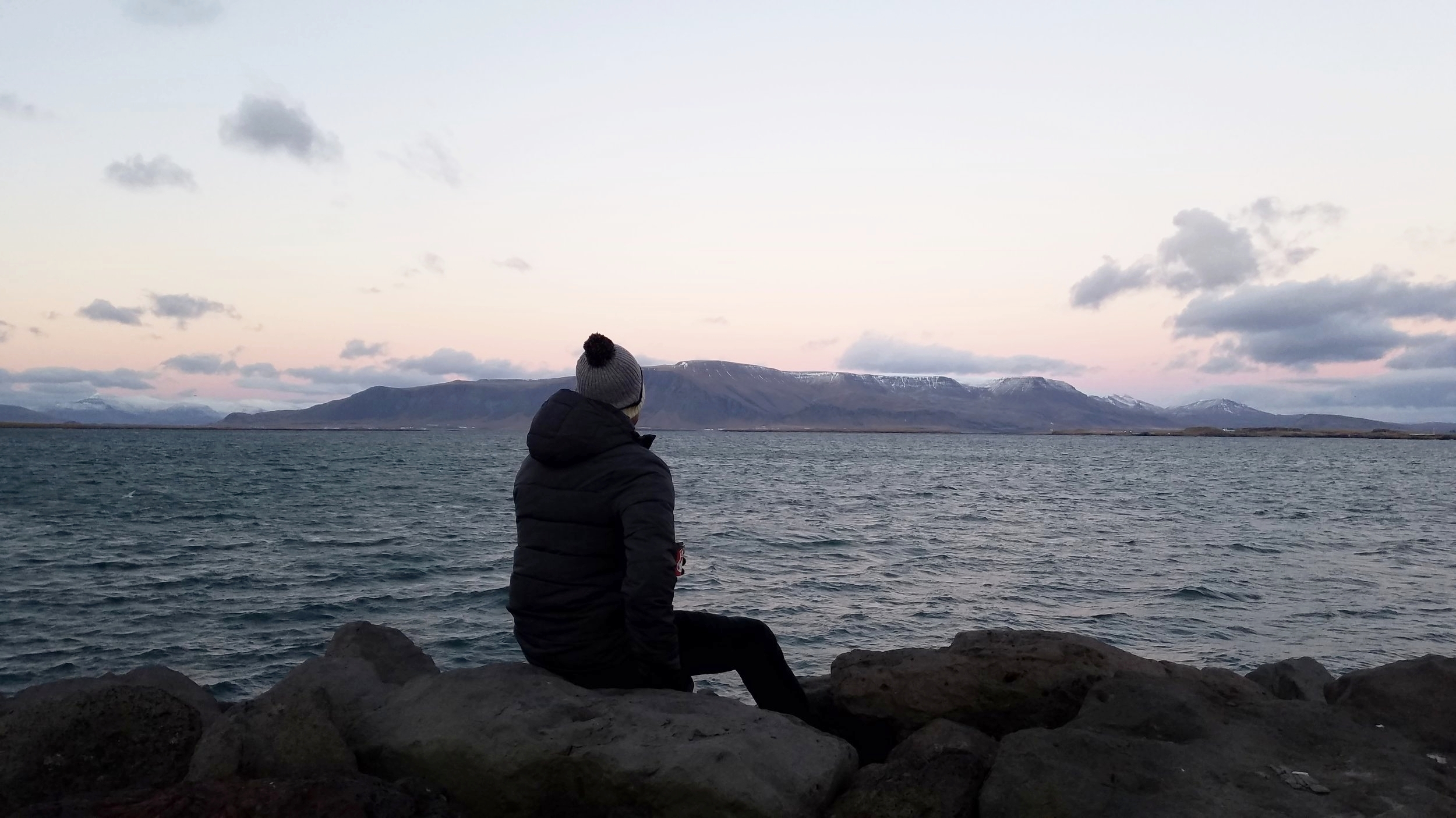 Looking northeast from downtown Reykjavík