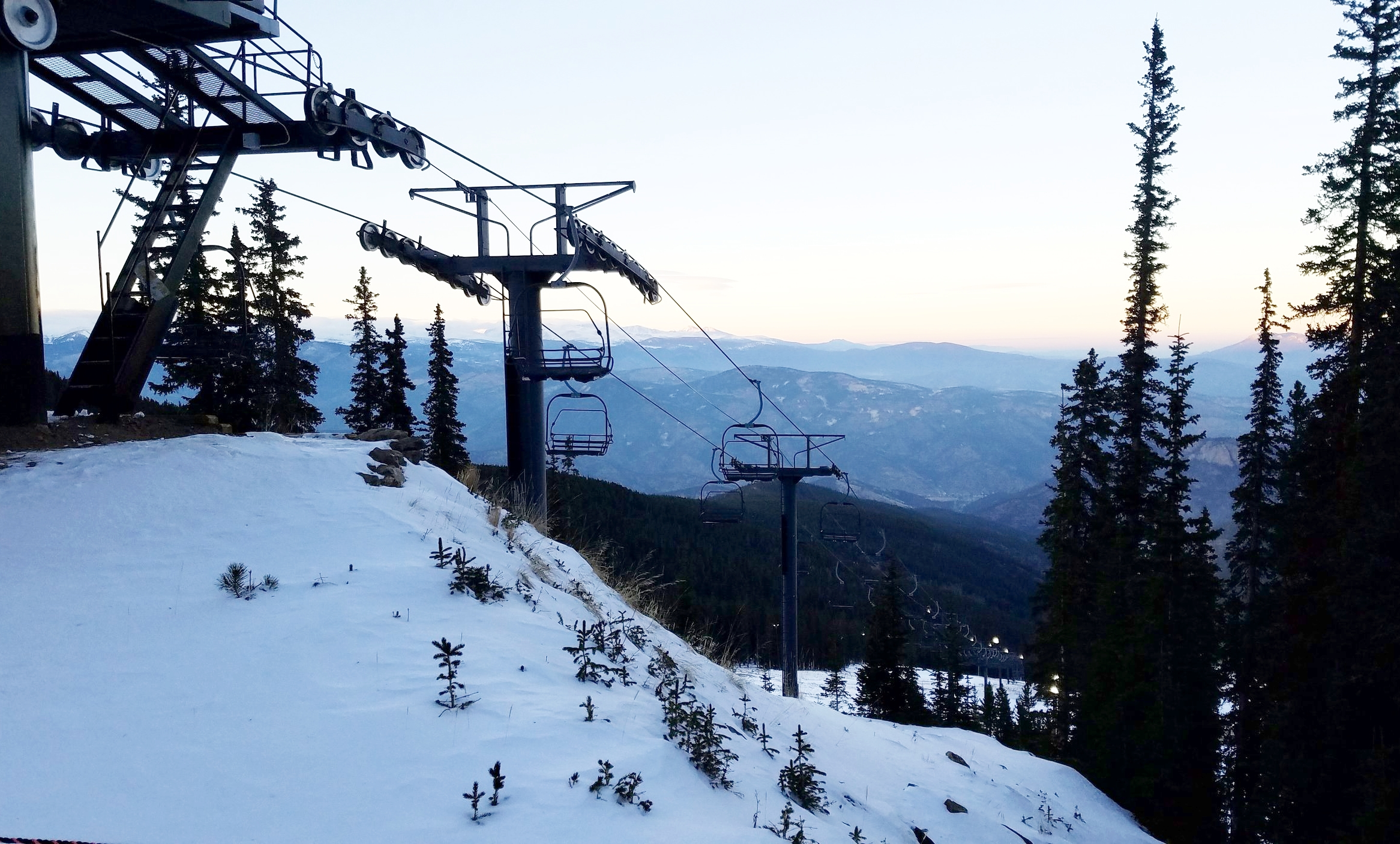 Early season skiing conditions didn't stop us from hitting the slopes in Idaho Springs, Colorado