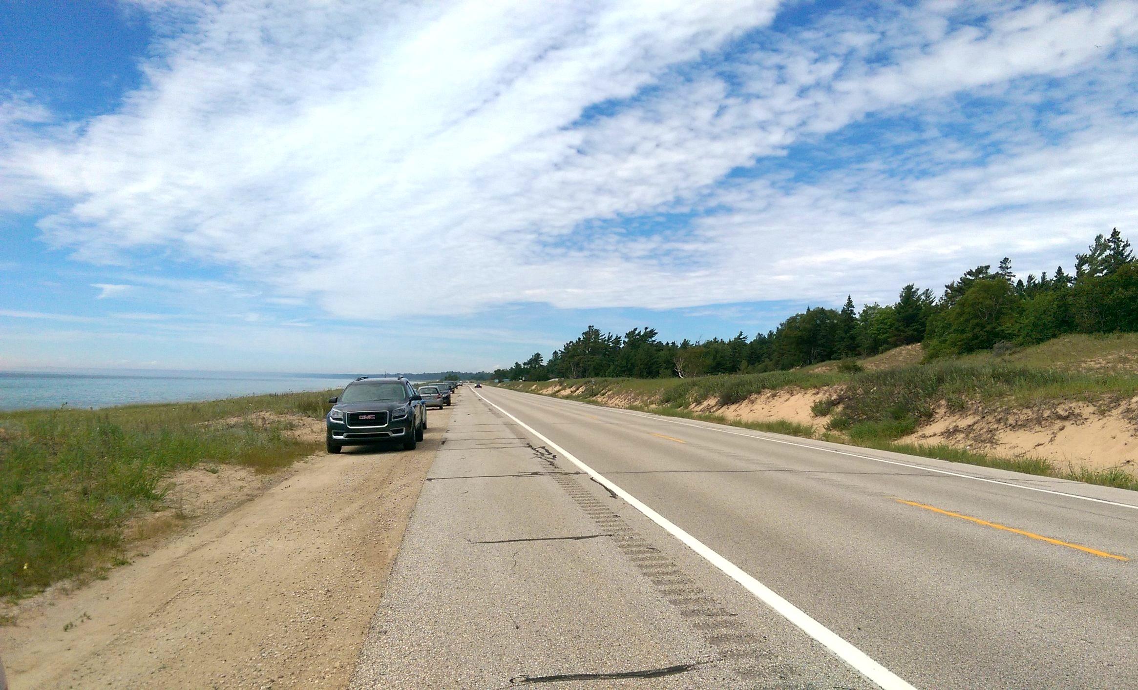 U.S. Route 2 in Michigan's Upper Peninsula, circa summer 2015