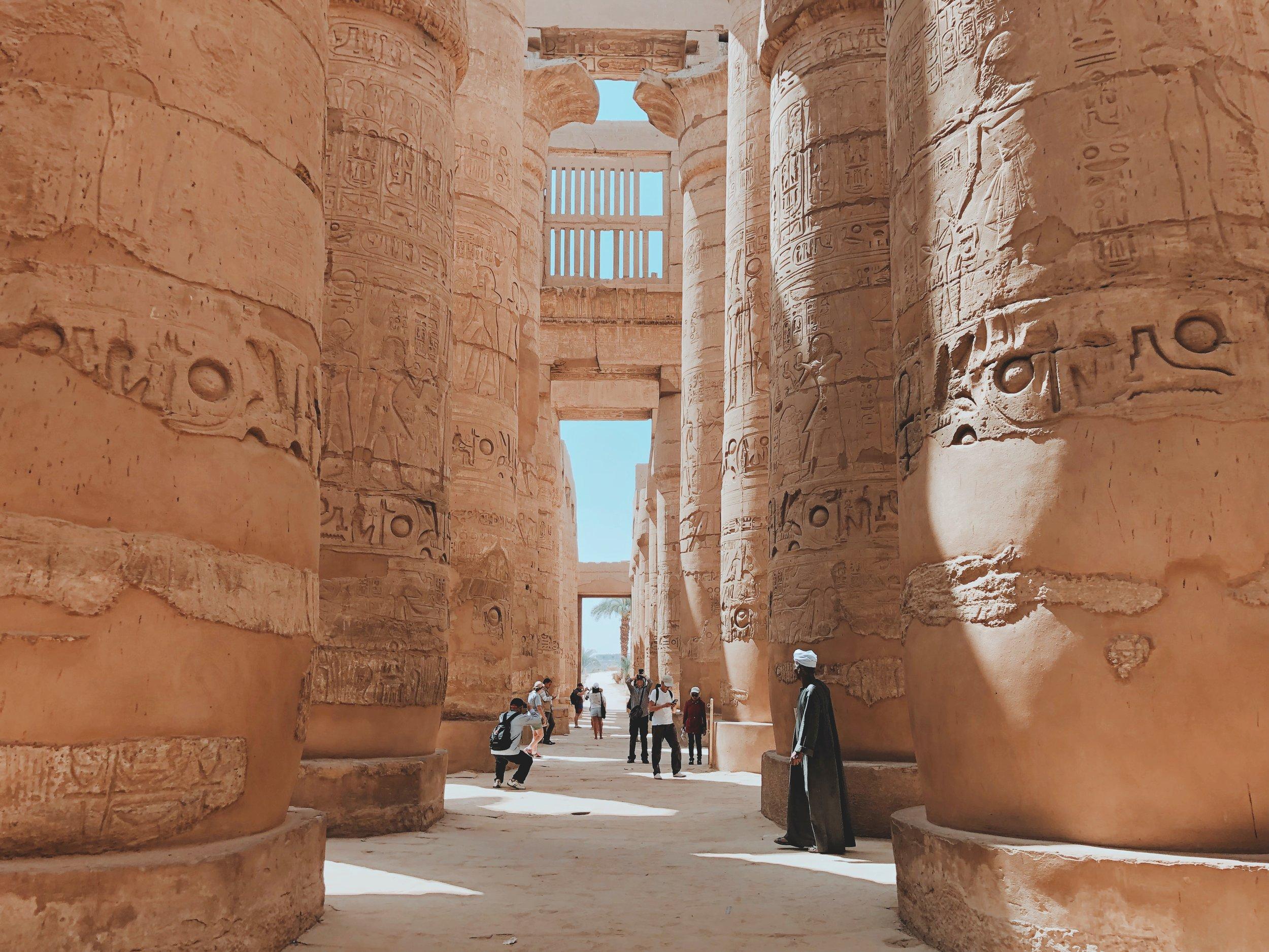 Inside the Karnak Temple in Luxor, Egypt (Photo: Ali Hegazy,  Unsplash )