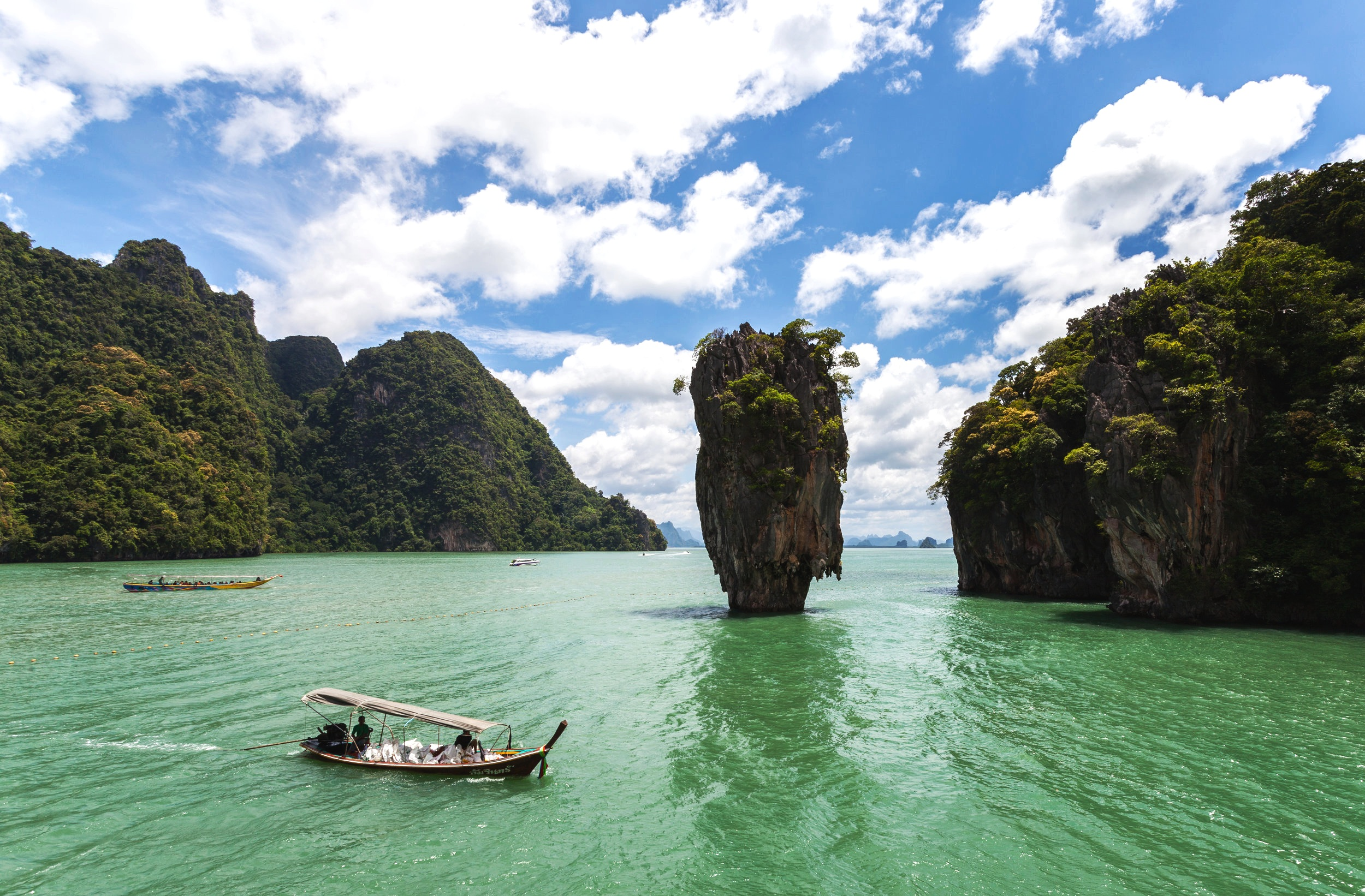 Thailand's Phang Nga Bay, the site of Chewbacca's home planet, Kashyyyk (Photo:  Wikimedia Commons )