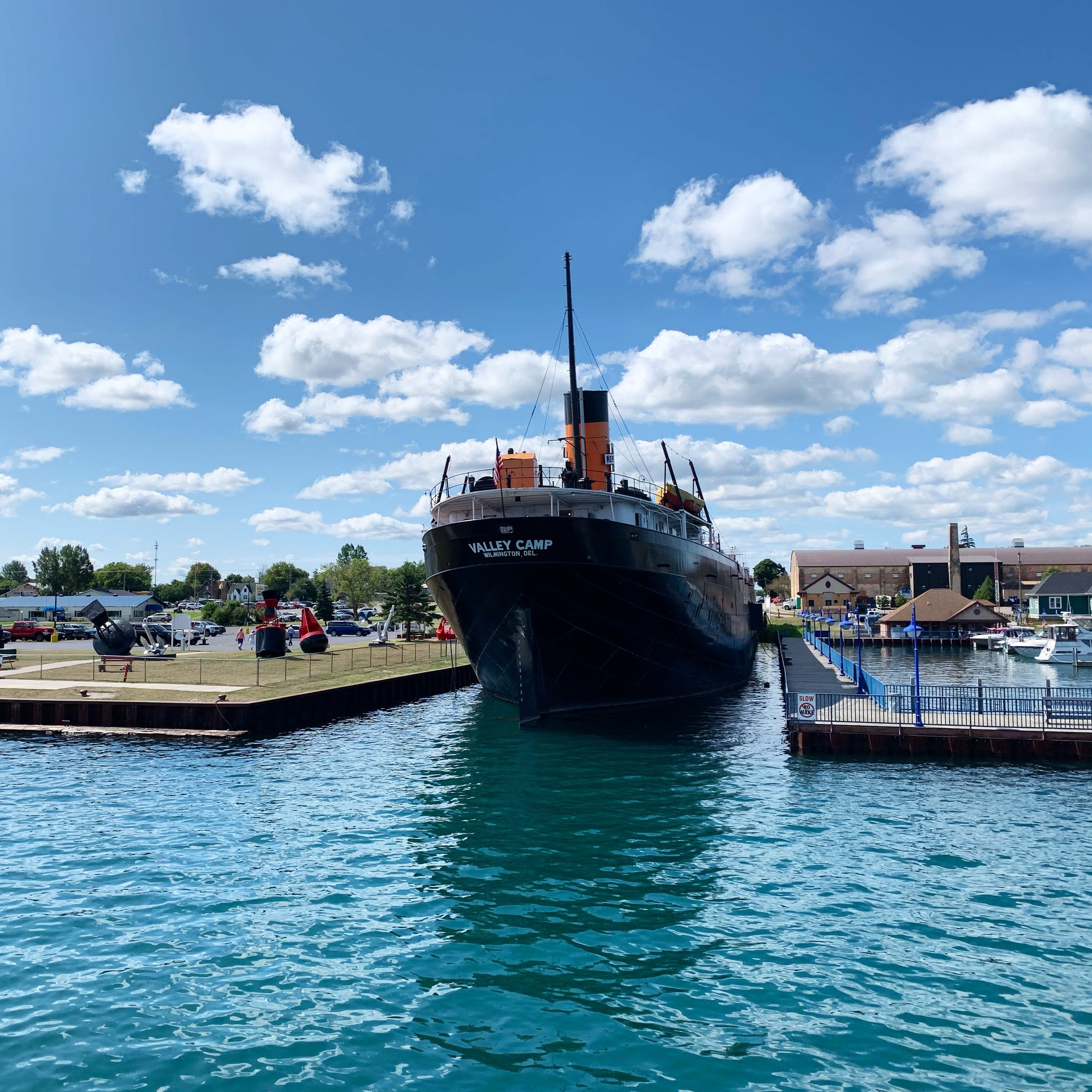 In service on the Great Lakes until the middle of the 20th century, the Valley Camp now serves as a floating museum