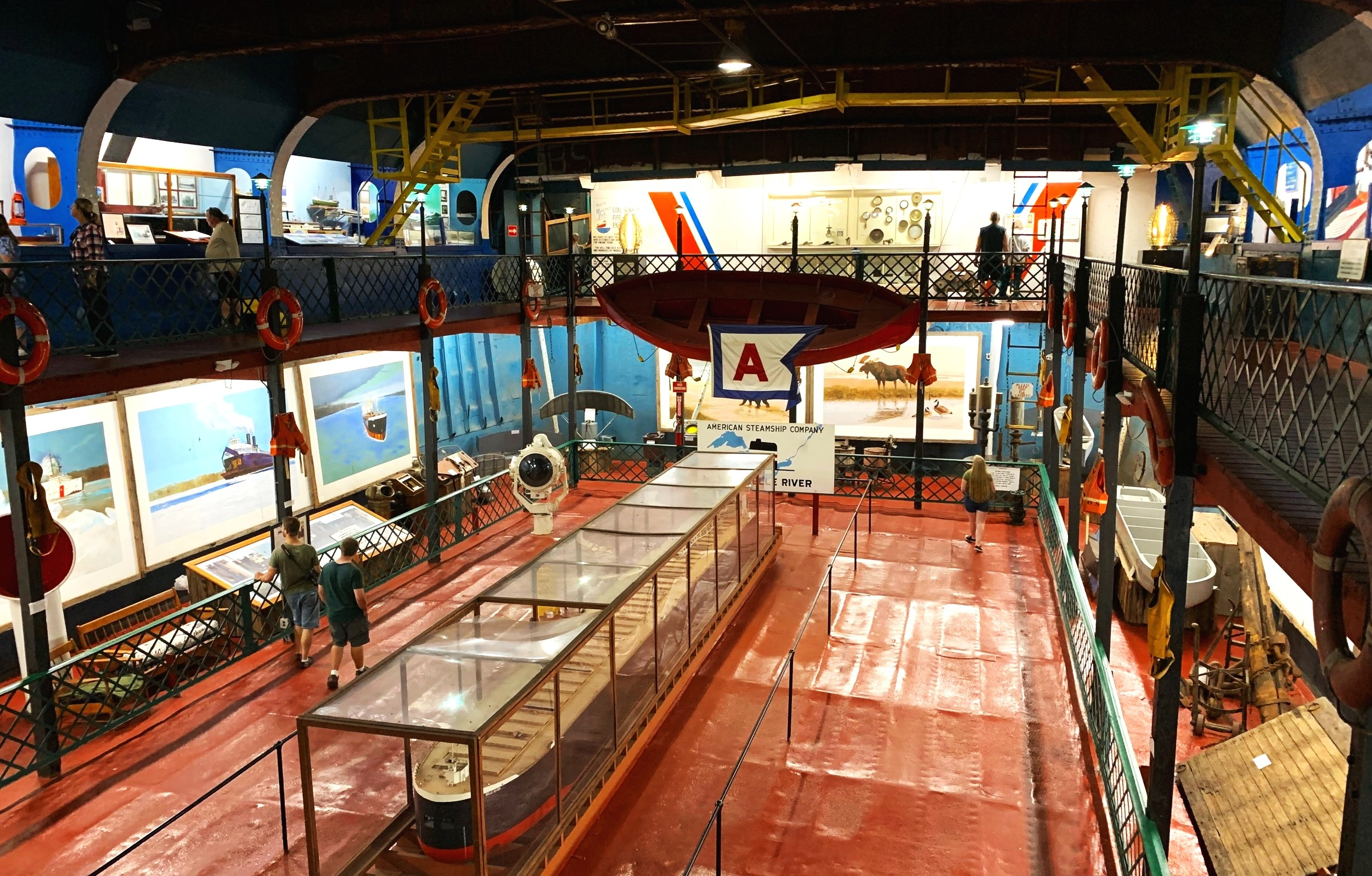 A peek inside Museum Ship Valley Camp