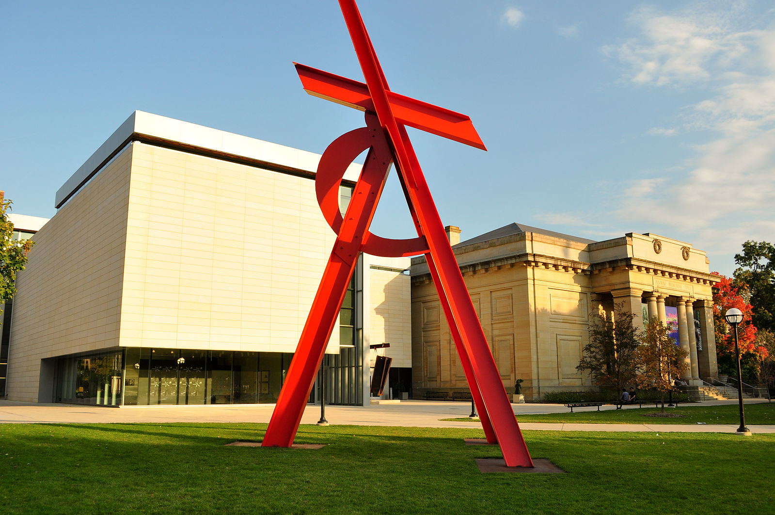 "The steel sculpture ""Orion"" stands outside the University of Michigan Museum of Art (Photo:  Wikimedia Commons )"