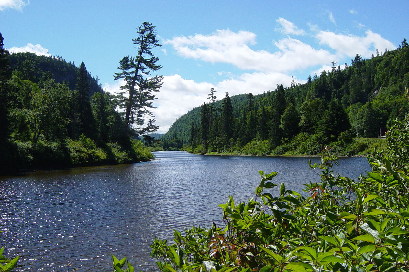 A scene along the Agawa River, which runs through a southern portion of Lake Superior Provincial Park (Photo:  Wikimedia Commons )