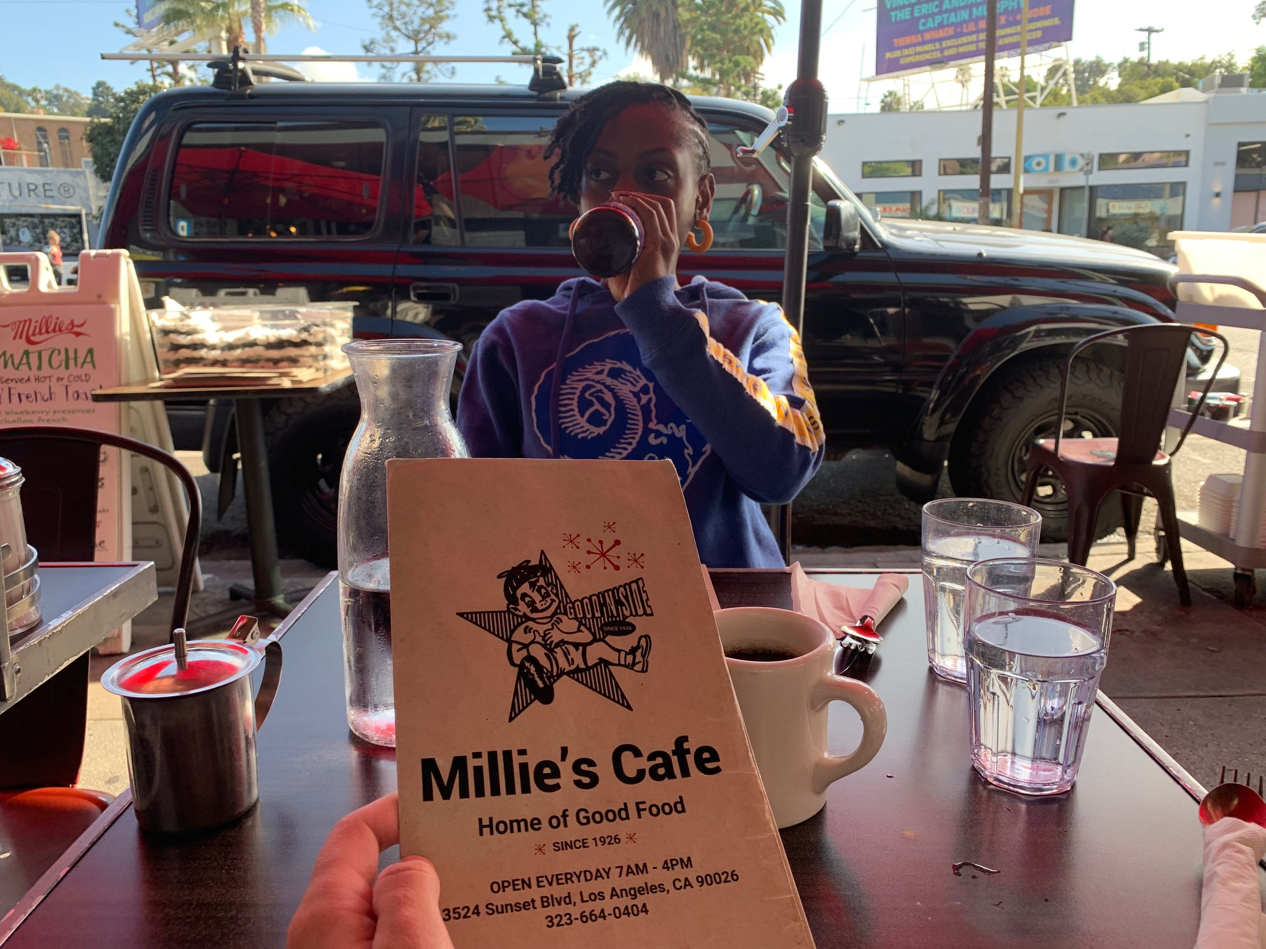 """A staple in the area since the 1920s,  Millie's Cafe  is a popular spot right in the heart of the neighborhood. While they're only open until 4 p.m, breakfast is served all day and they have some oh-so-delicious options, including their tacos de huevos and the """"slutty bun"""" (scrambled eggs, cheddar, caramelized onions and sriracha mayo on a brioche bun). Of course, they also have a vegan menu."""