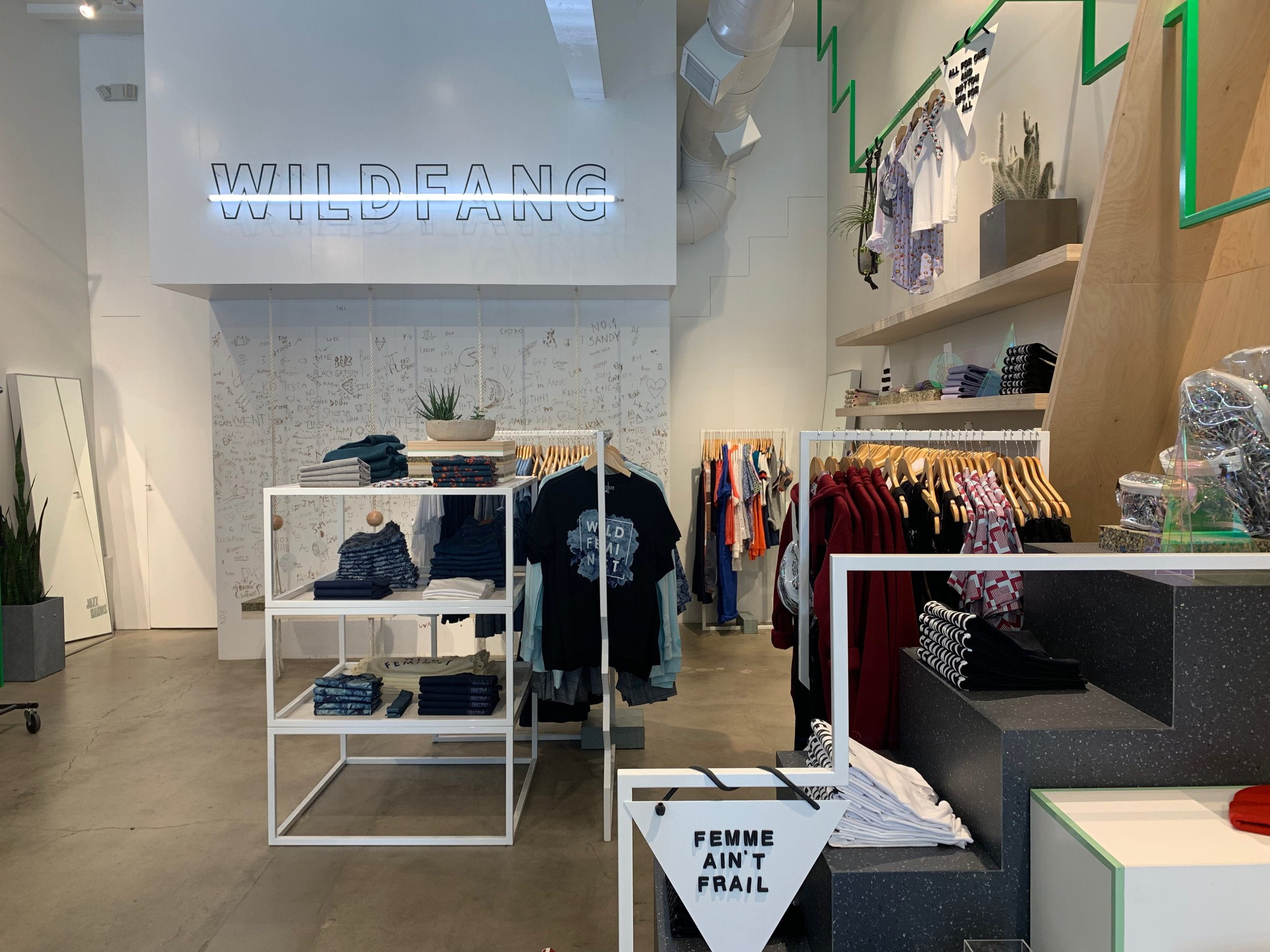 At  Wild Fang , the entire philosophy revolves around women being able to wear whatever they please — no ifs, ands, or buts about it. And while the company was created by women, is run by women, and is geared toward the female customer, they still sell items that could be worn by anyone, such as the grey beanie I purchased.