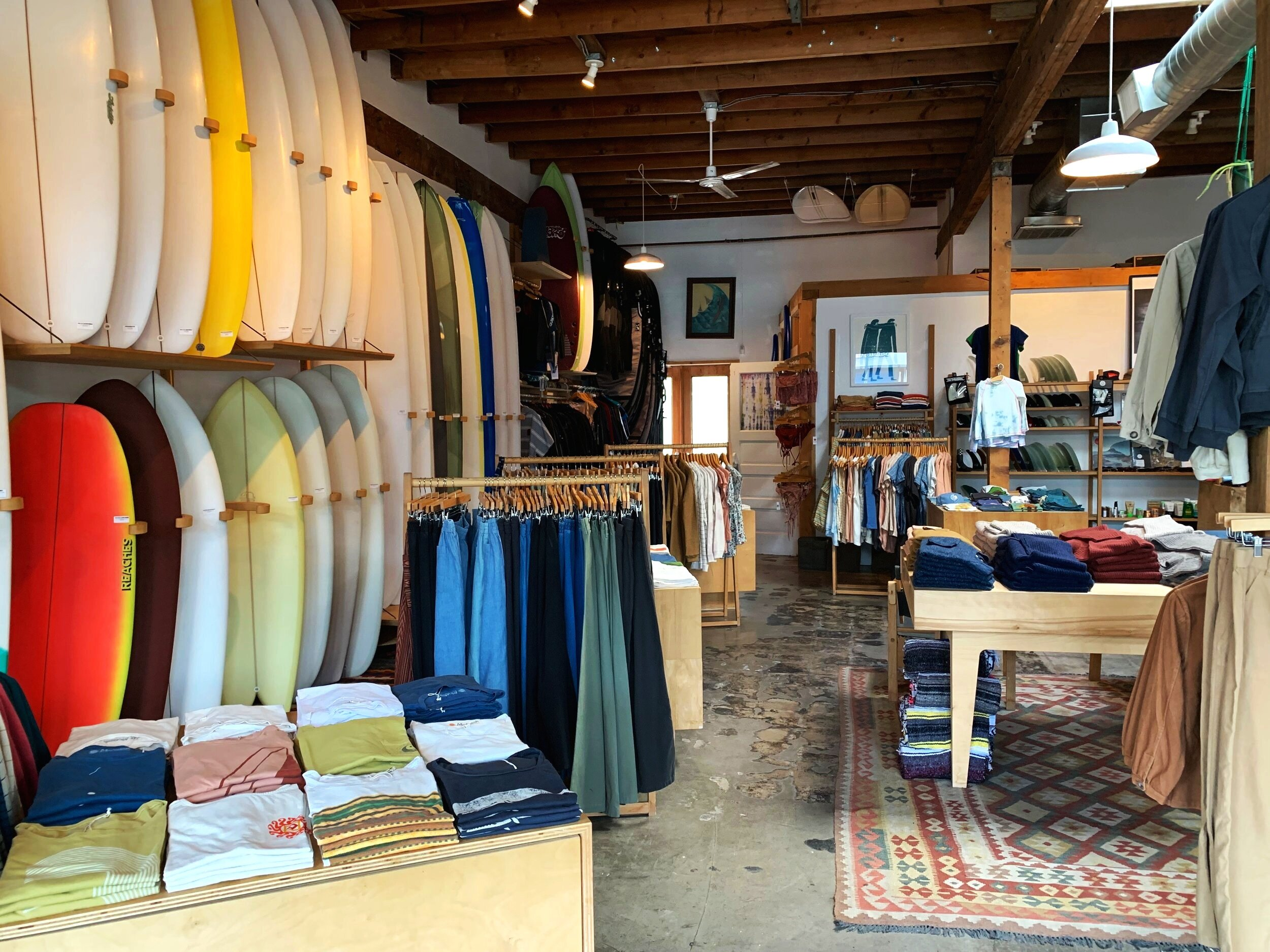 Food is definitely a draw in Silver Lake, but so, too, are the numerous inviting storefronts, such as that of  Mollusk Surf Shop , which sits just across from Millie's on Sunset. Inside you'll find sleek graphic tees, surfboards you'll wish were yours, and plenty of other wave-riding paraphernalia.