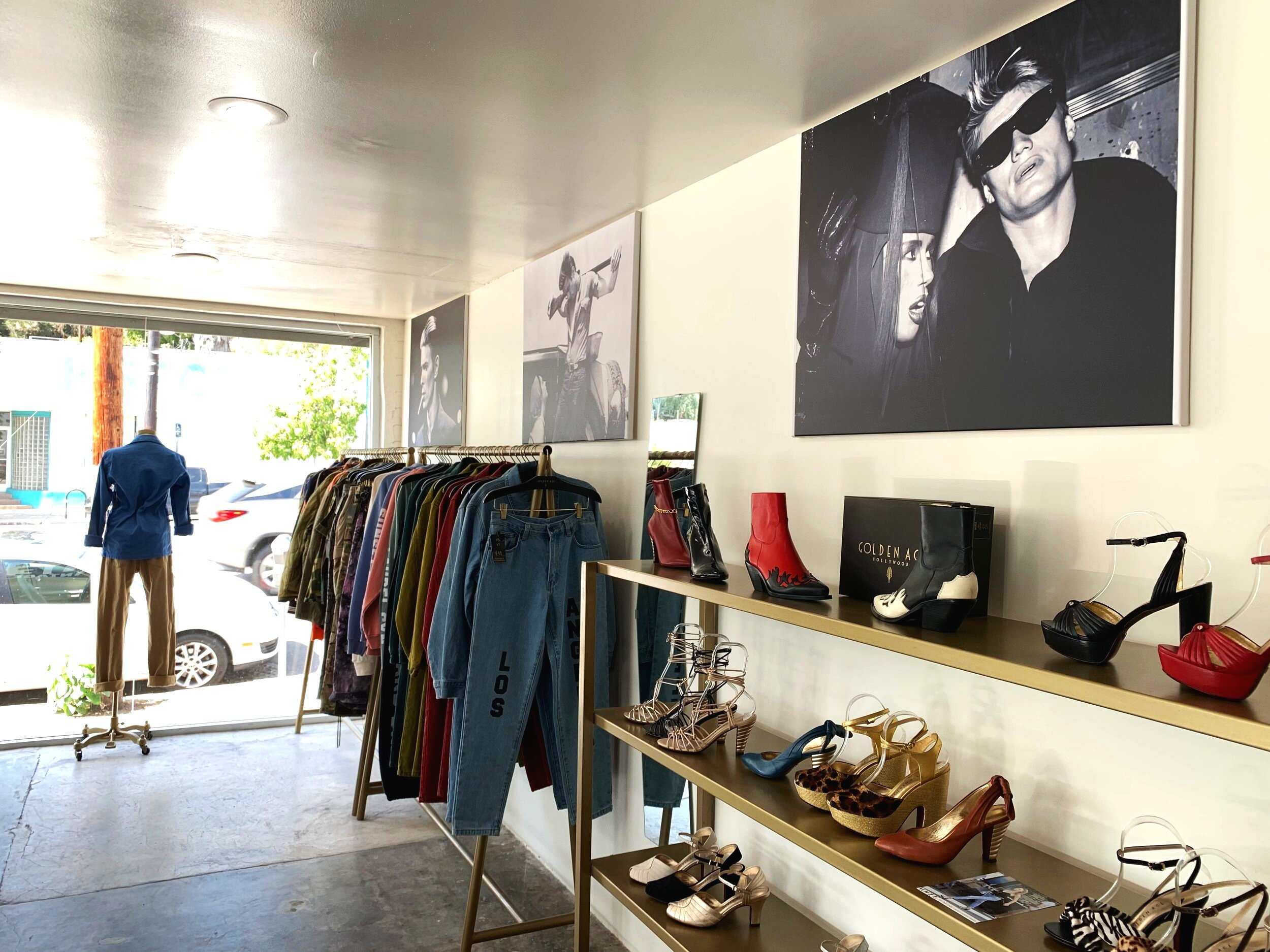 The interior of Golden Age is small — intimate, you might say — with just a few racks of clothes, a couple shelves full of shoes, and just one or two employees on hand who will sit back and let you do your thing or lend a hand, should you need it. If you need even more Golden Age, they have  a second location  over on Melrose.