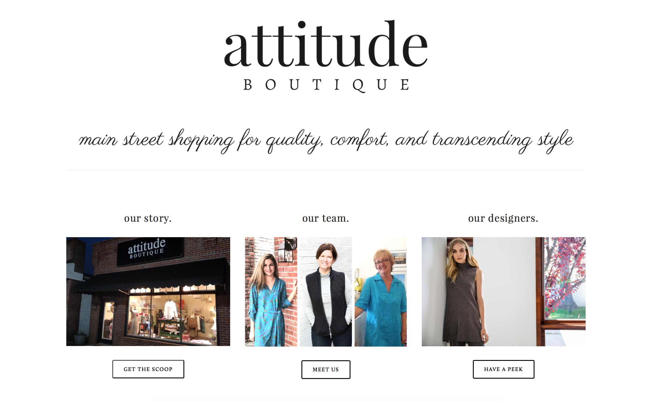 Attitude Boutique - Kilmarnock, Virginia   Click the image for full website.