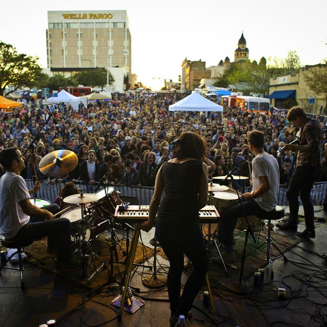 COMMUNITY EVENTS                        From the legendary Arts & Jazz Festival to plays and performances across the city, there is always something exciting happening in the arts of Denton.