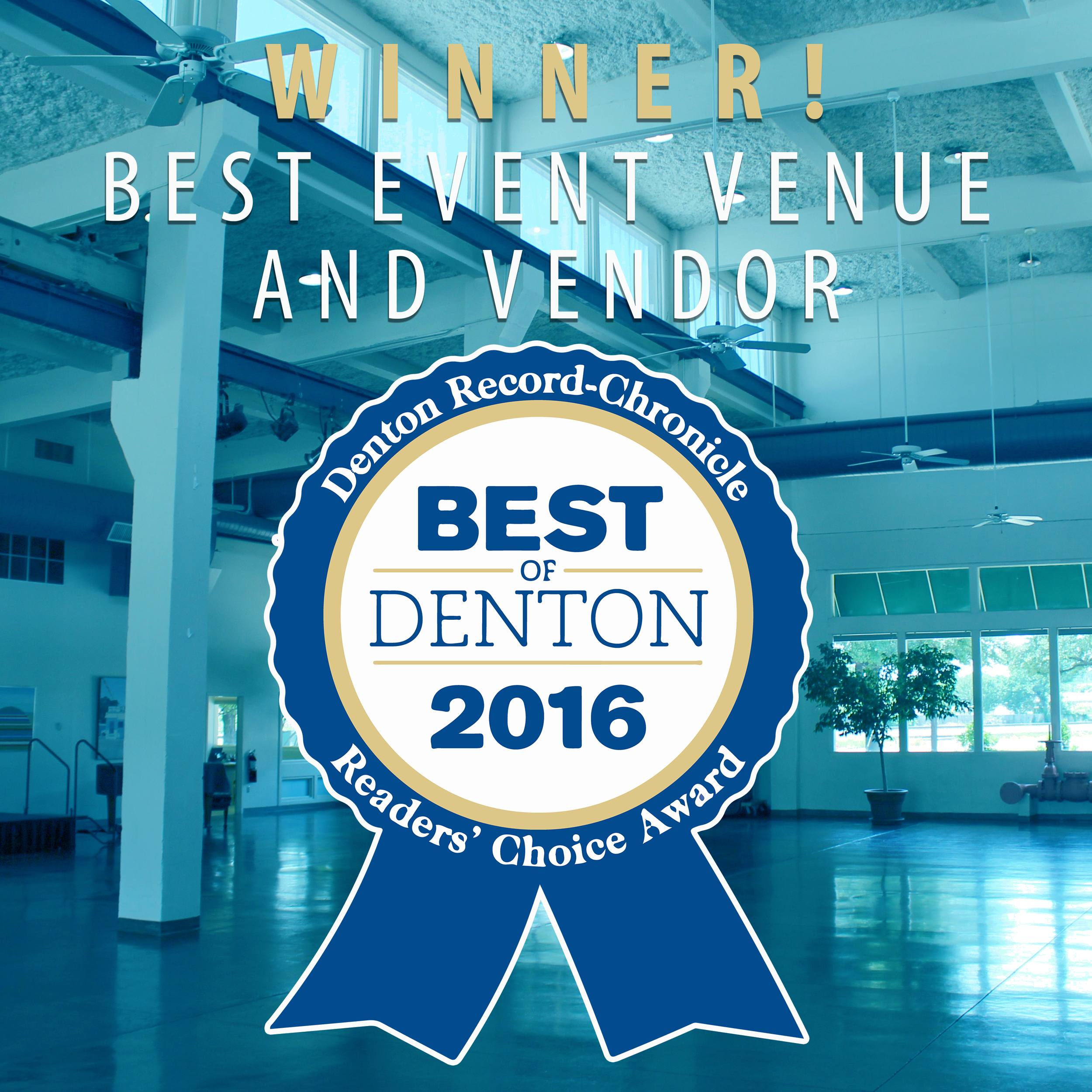 The Patterson-Appleton Arts Center was voted Best Event Venue & Vendor in Denton for 2016