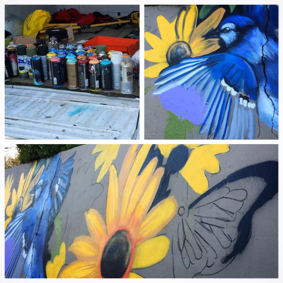 Public murals in process funded by Keep Denton Beautiful's new Artscapes program